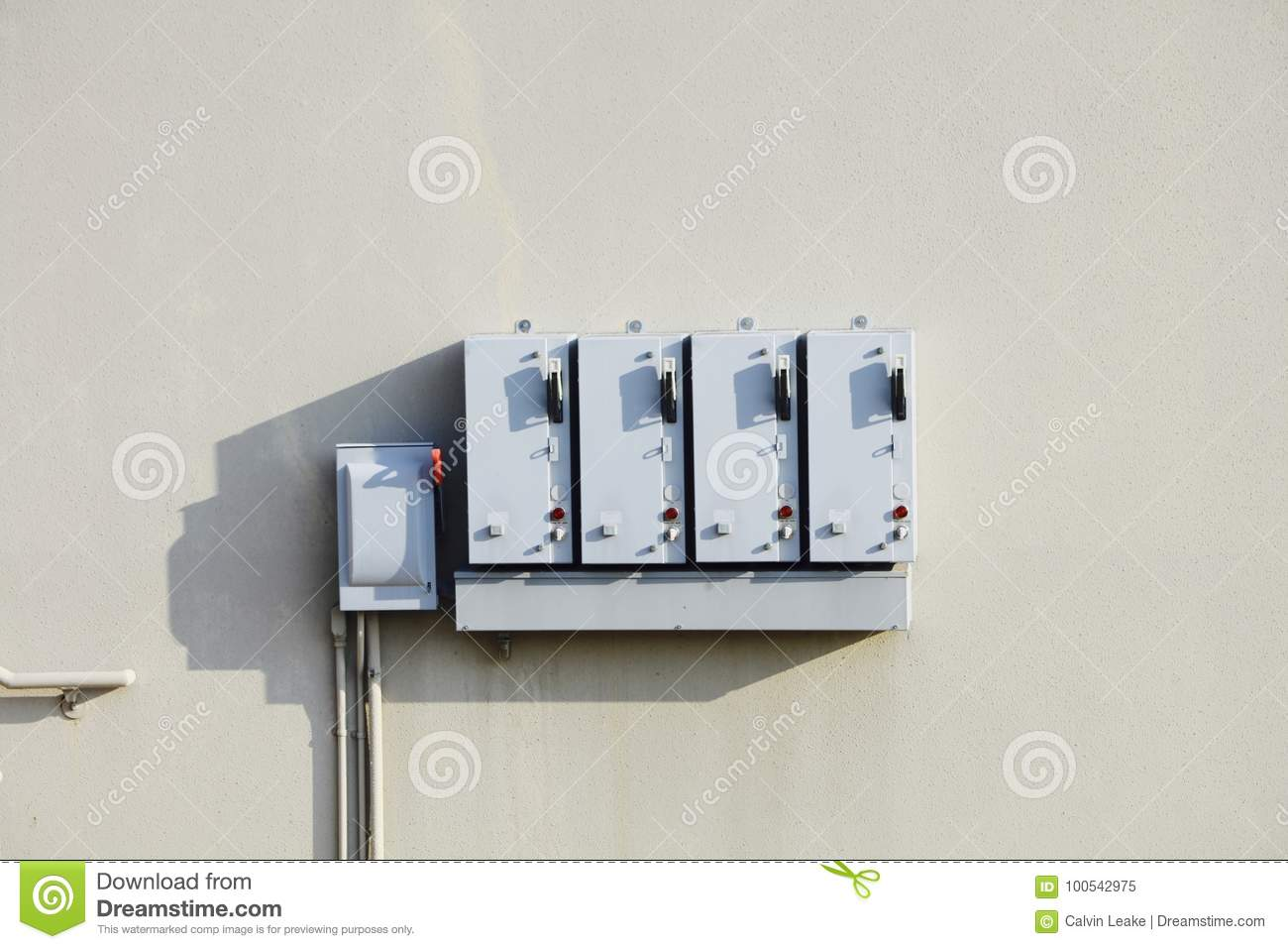 Circuit Breaker Box Commercial Stock Image - Image of commercial ...