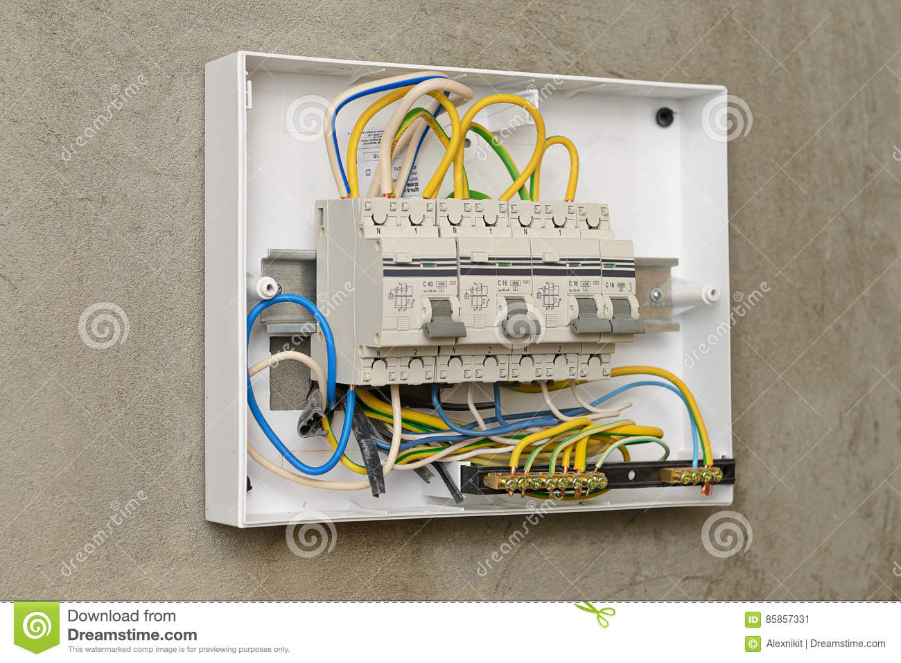 Circuit Breakers In A Plastic Box Stock Image Of Connect Breaker Download Control