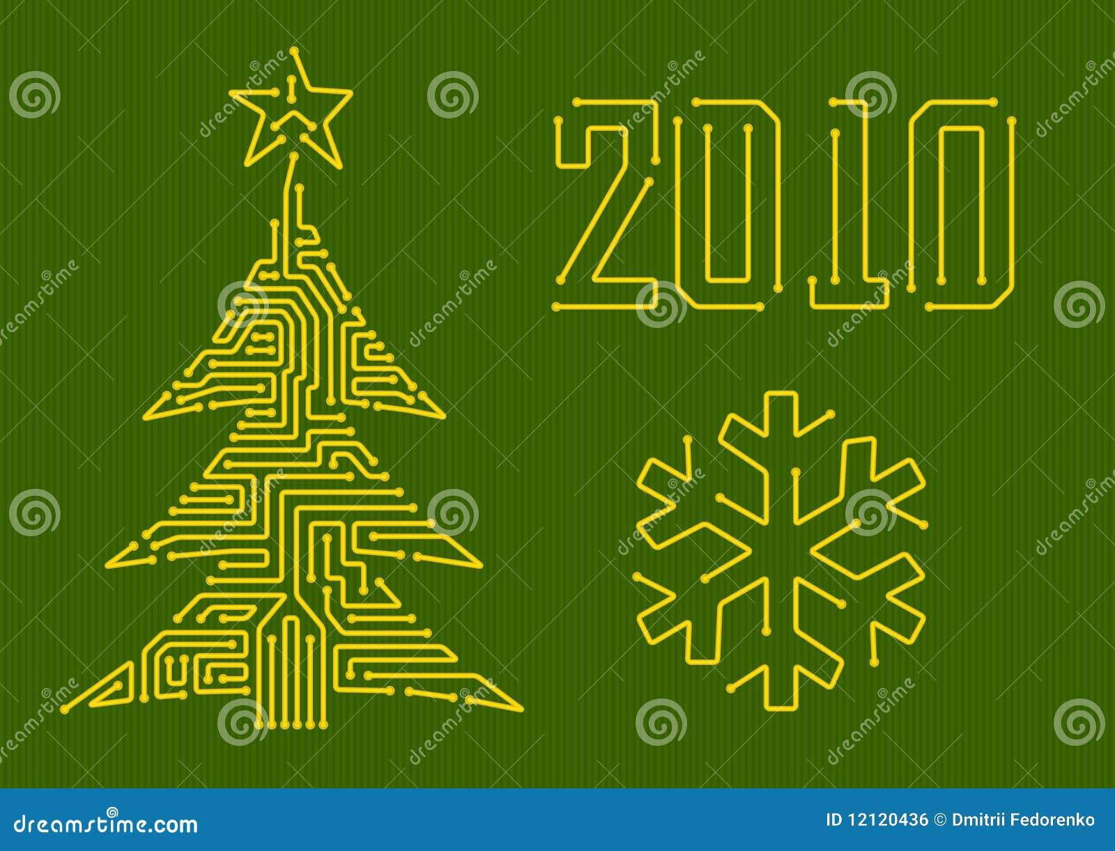 Christmas Tree Circuit Agcrewall Hj94015 Music Lights Control Controlcircuit Royalty Free Stock Image