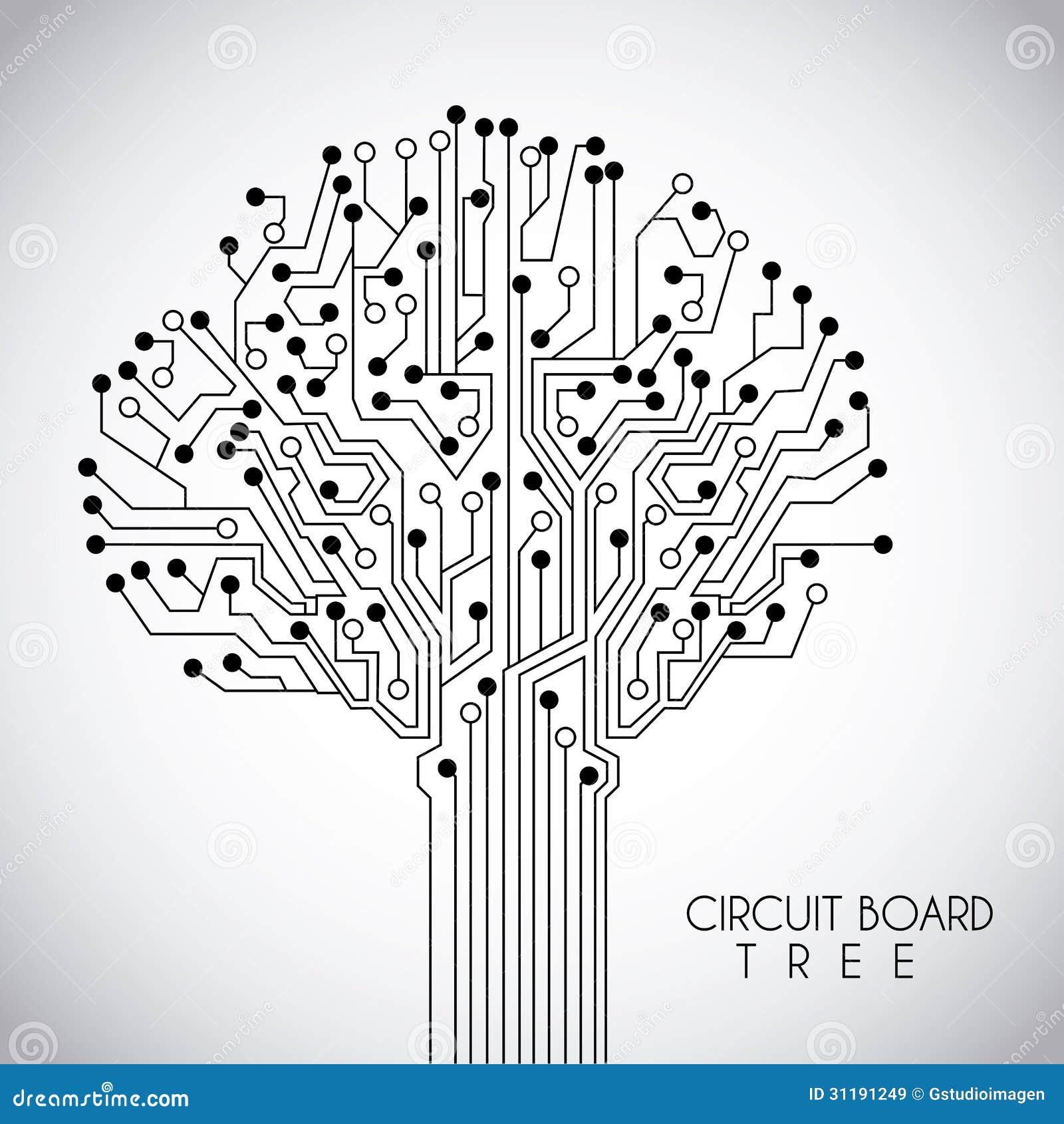 Circuit design stock vector. Illustration of idea, maze - 31191249