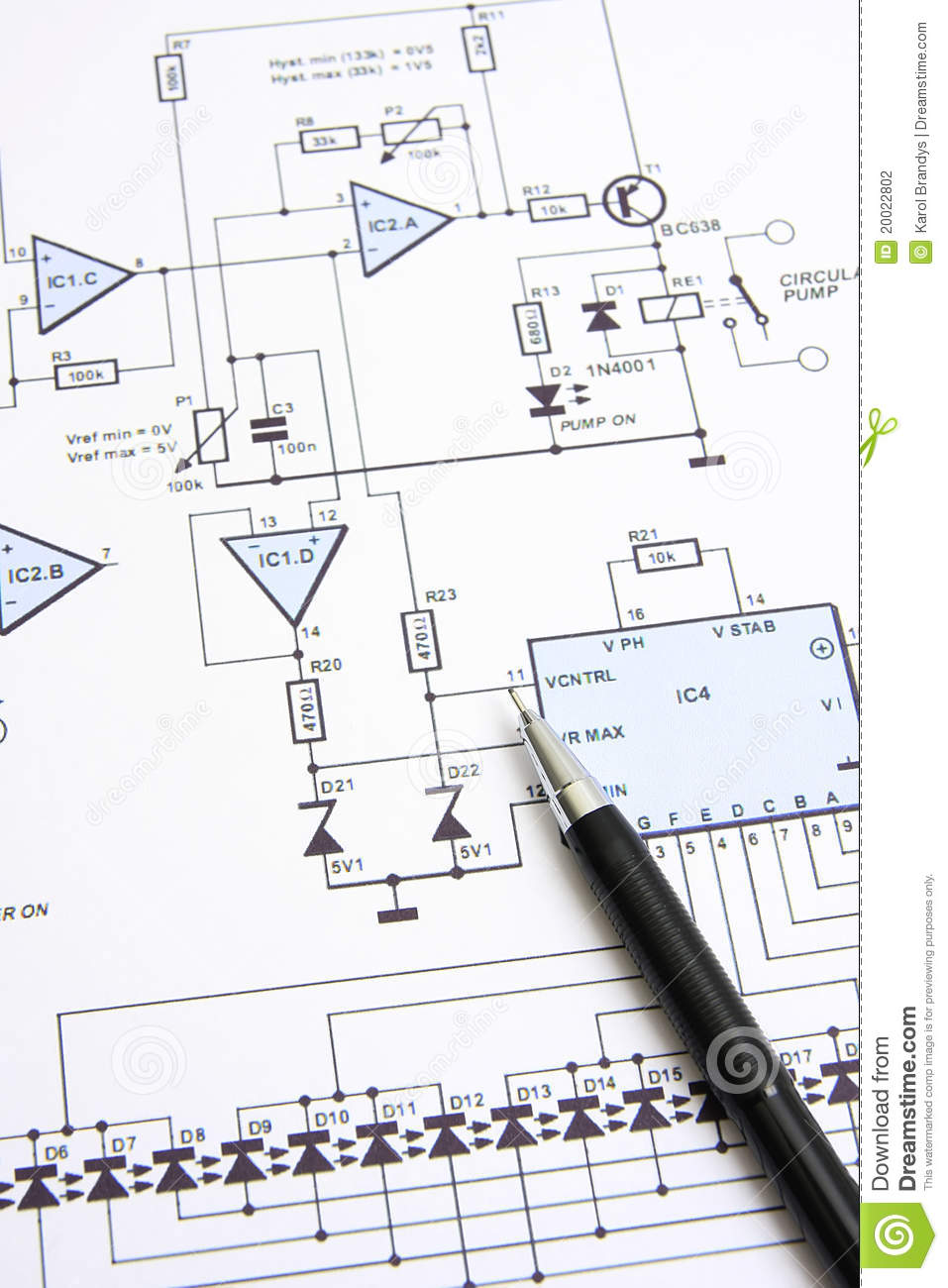 Circuit Diagram Stock Photo Image Of Property Technology 20022802 Electronic Diagrams Free