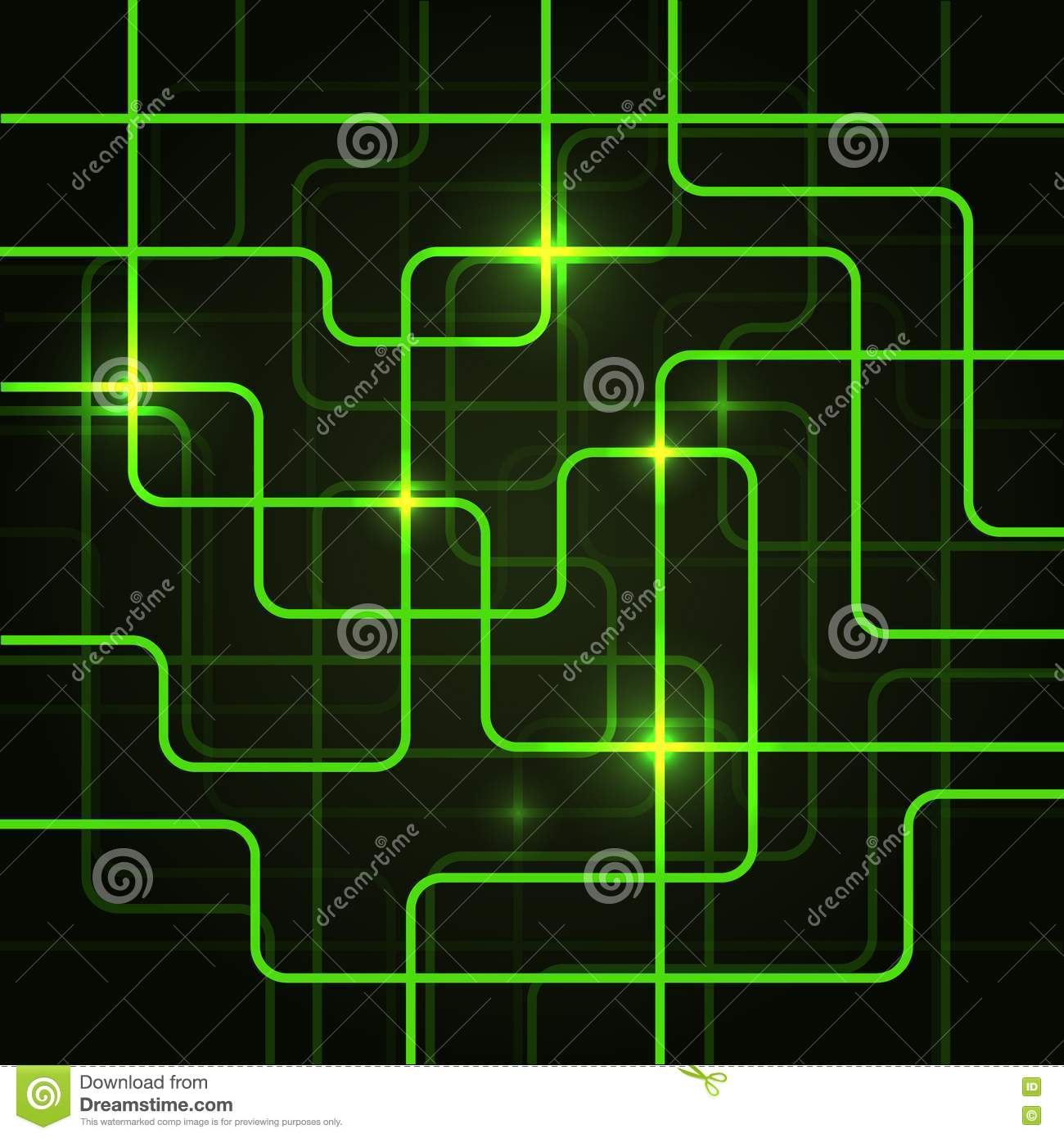 Circuit Electric Board Abstract Background Royalty Free ...
