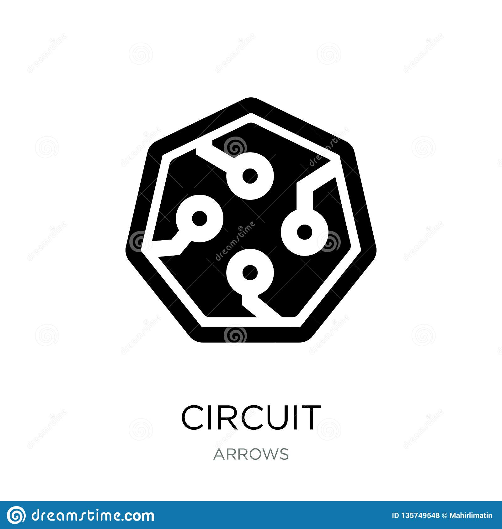 Circuit Icon In Trendy Design Style  Circuit Icon Isolated