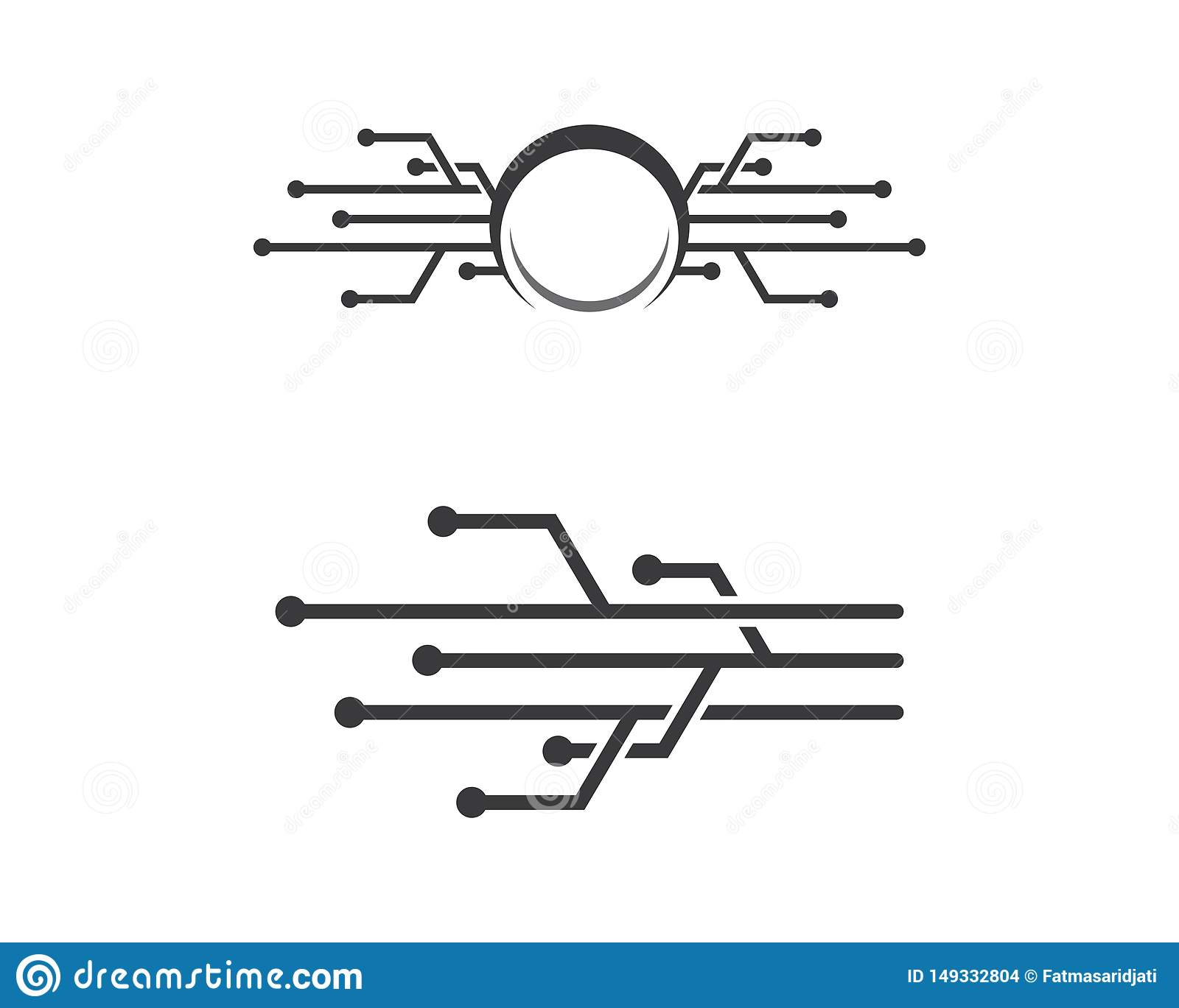 Circuit logo template