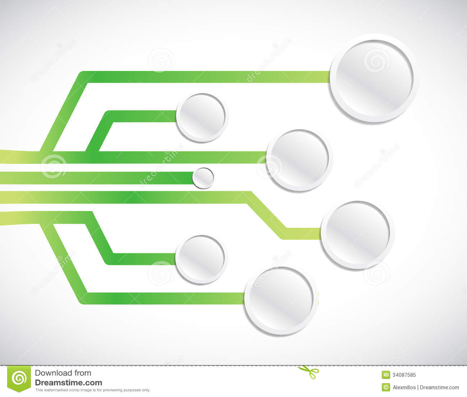 Circuit Network Diagram Illustration Design Stock Image - Image of ...