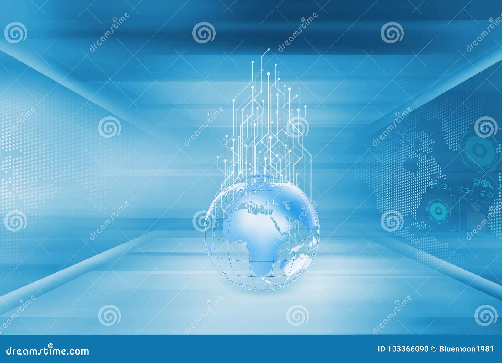 Circuiti in aumento dalle serie di concetto del globo della terra