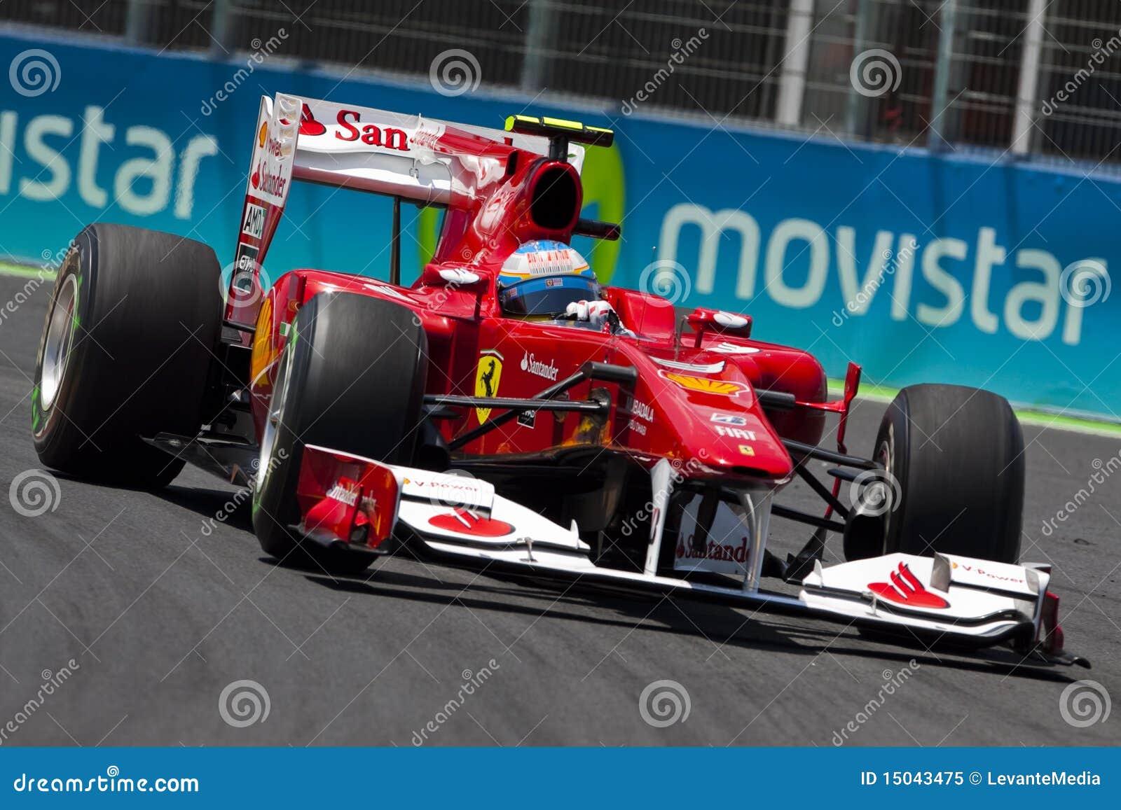 Circuito Valencia F1 : Circuito della via di f valencia immagine editoriale