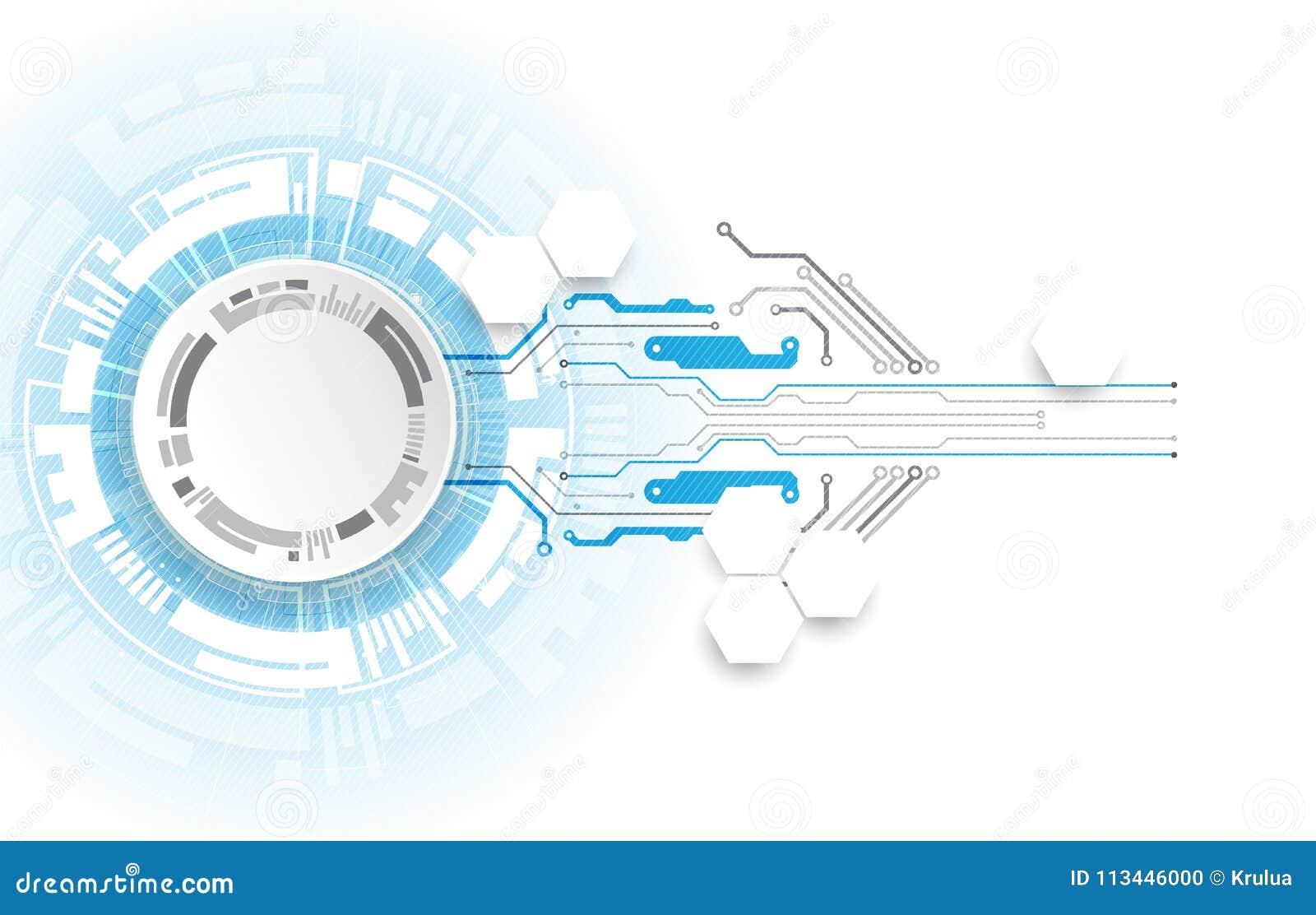 Circuito astratto di tecnologia Concetto di comunicazione
