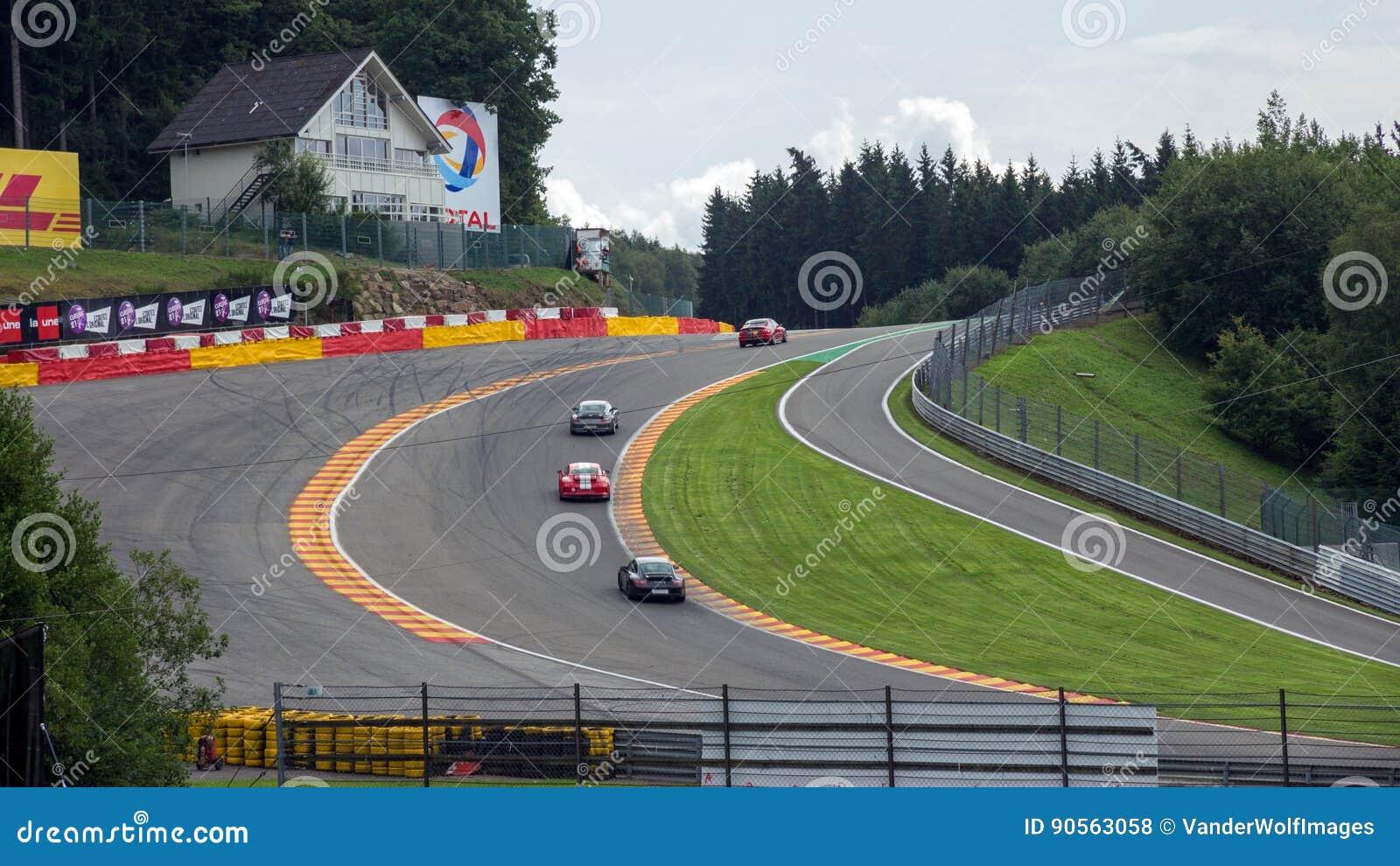 Circuito Spa : Circuito belgio della corsa di francorchamps della stazione termale
