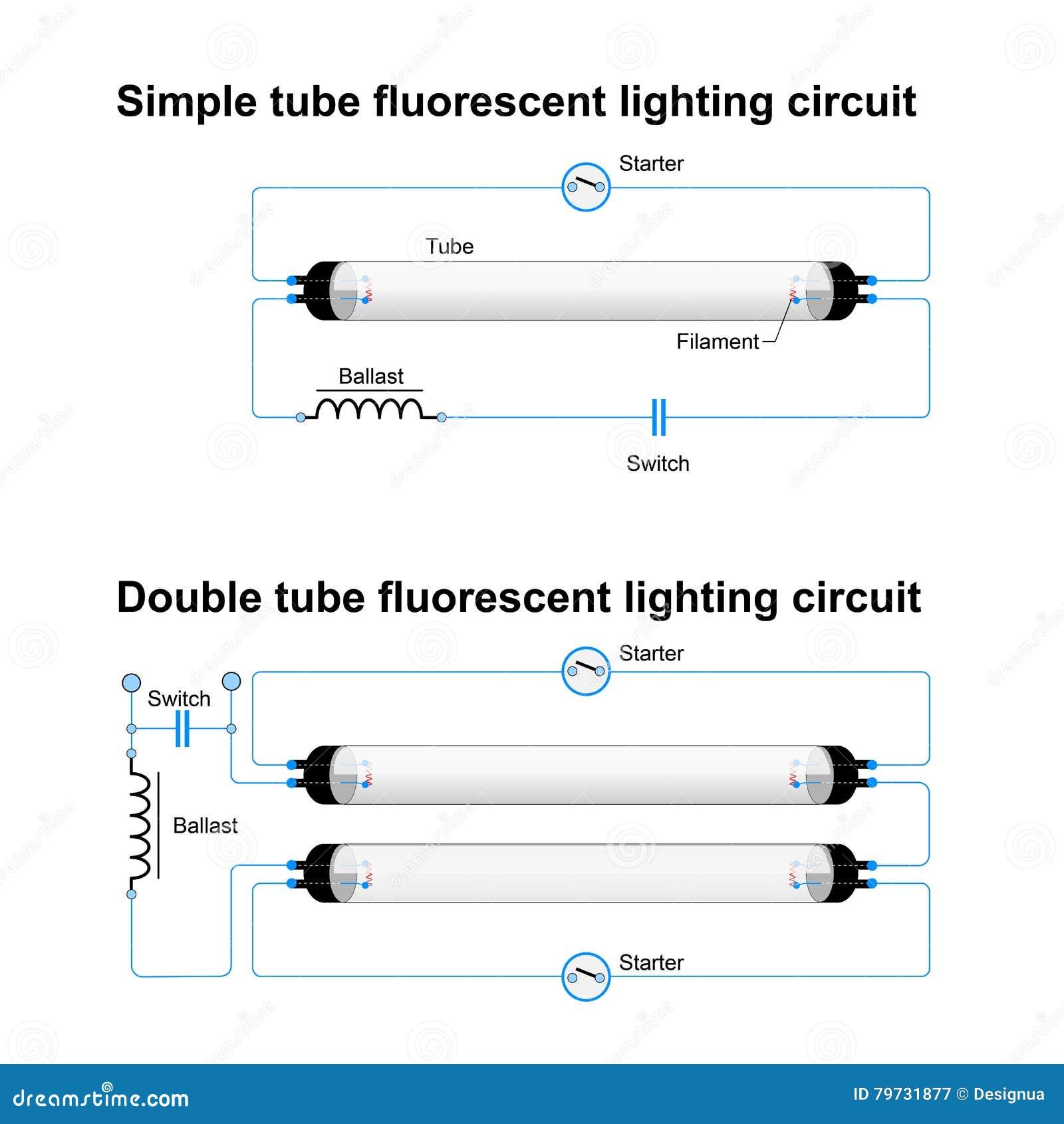 t8 fluorescent light wire diagram circuito de iluminaci  n fluorescente solo y doble del tubo  circuito de iluminaci  n fluorescente solo y doble del tubo