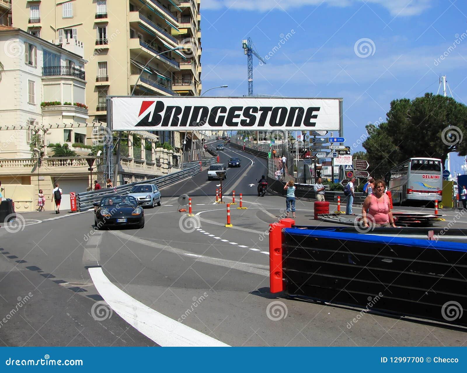 Circuito Monaco : Circuito della monaco virage sainte dedica immagine editoriale