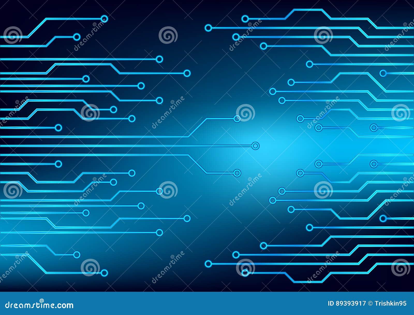 Circuito X : Circuito eléctrico ilustración del vector eps