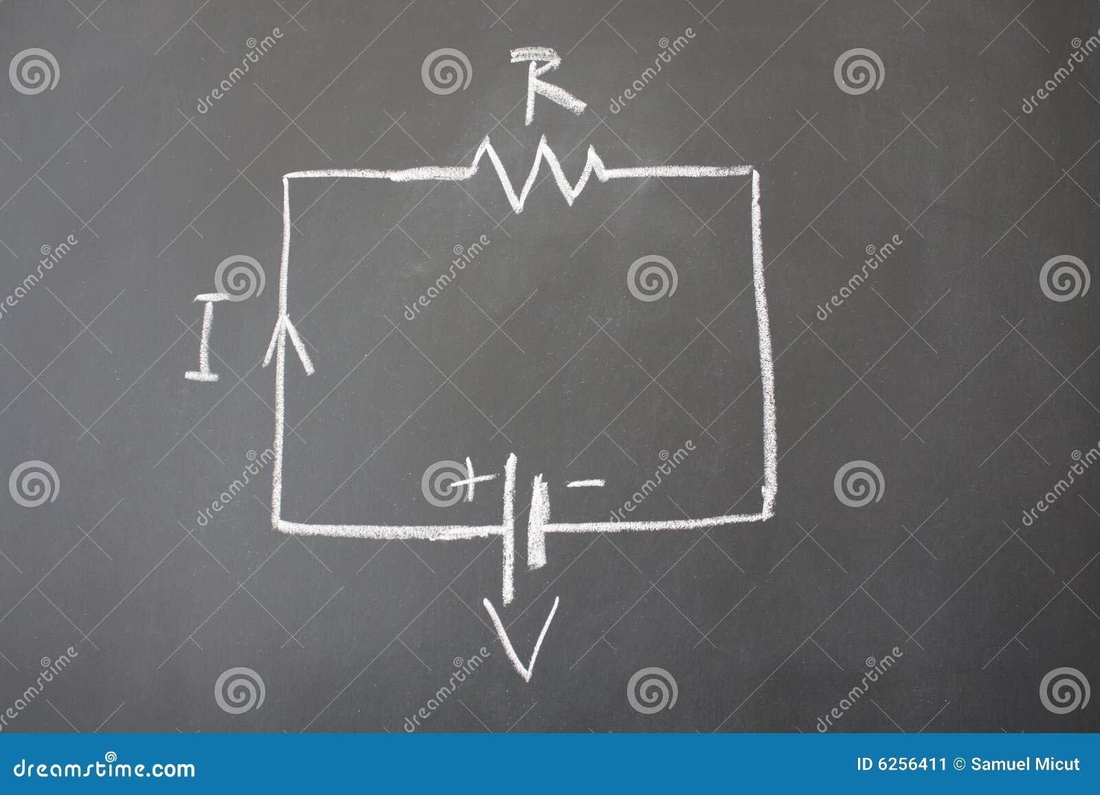 Circuito Electrico Simple Diagrama : Circuito eléctrico simple imagen de archivo imagen de conectado