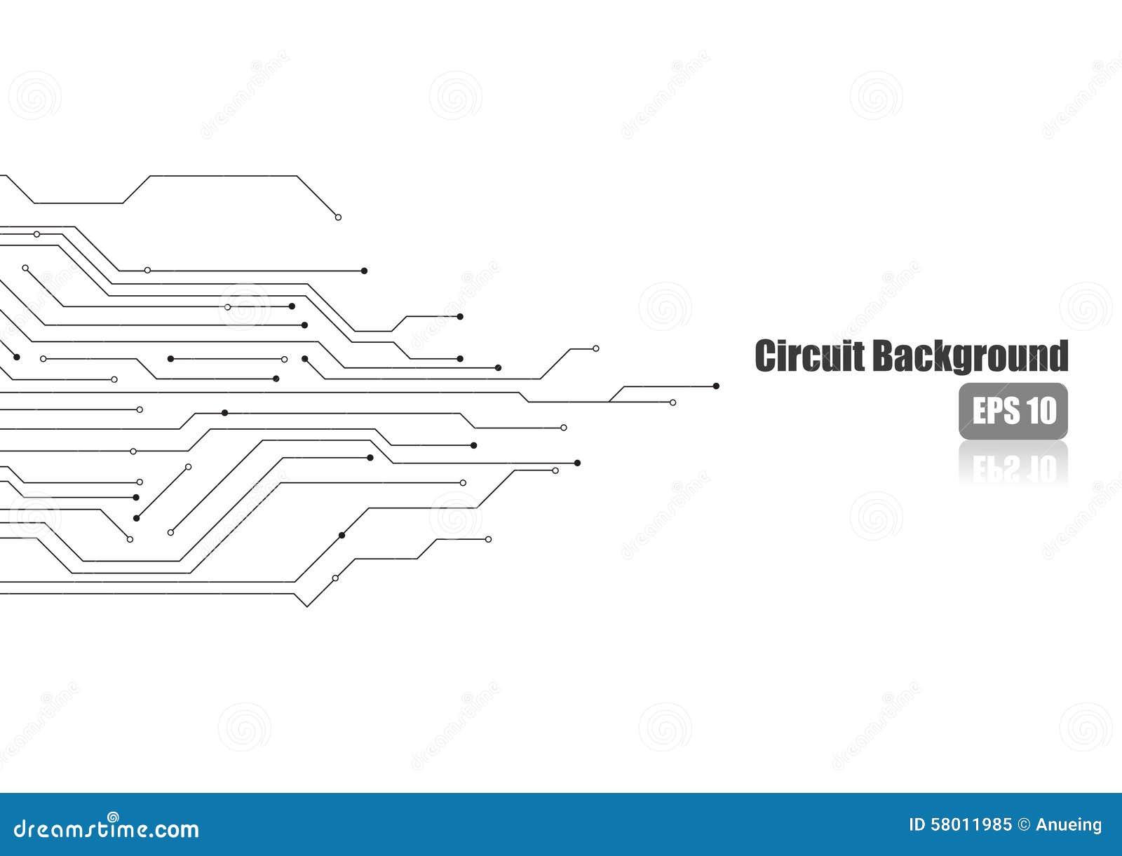 circuito electr u00f3nico en el fondo blanco ilustraci u00f3n del vector