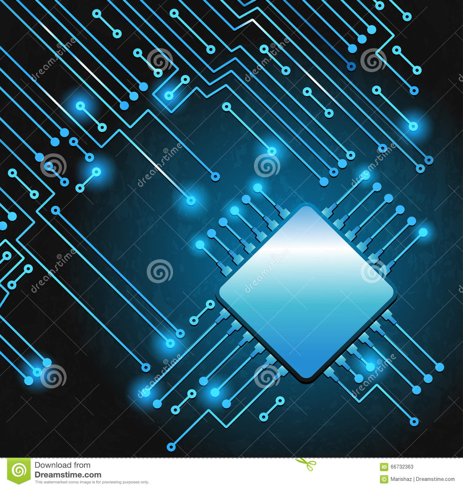 Circuito Z : Circuito electrónico moderno de dibujo ilustración del