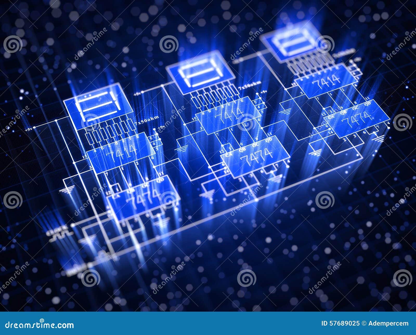 Circuito Electronico : Circuito electrónico stock de ilustración imagen