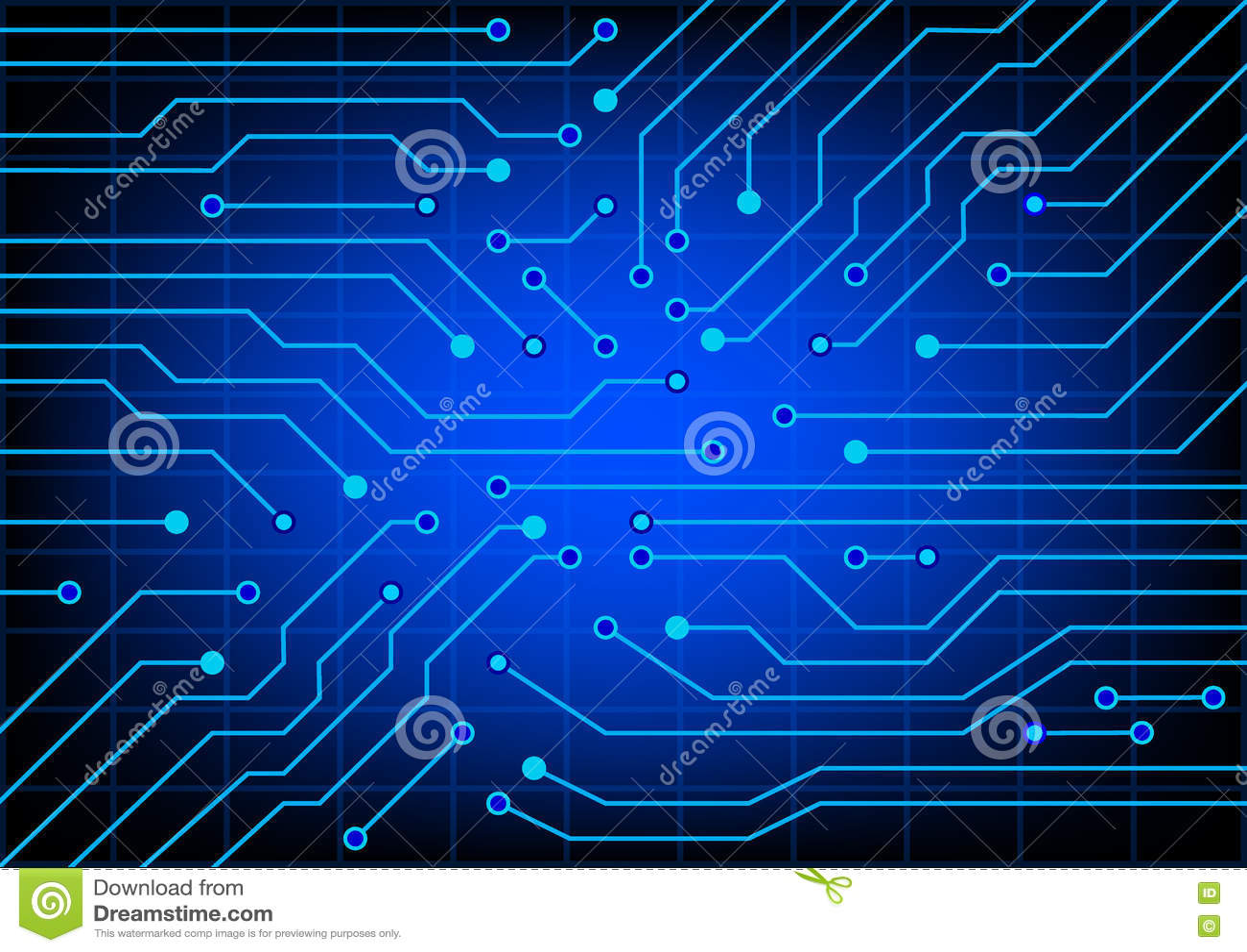 Schema Elettrico Lampada : Circuito elettrico illustrazione di vettore di env 10 illustrazione