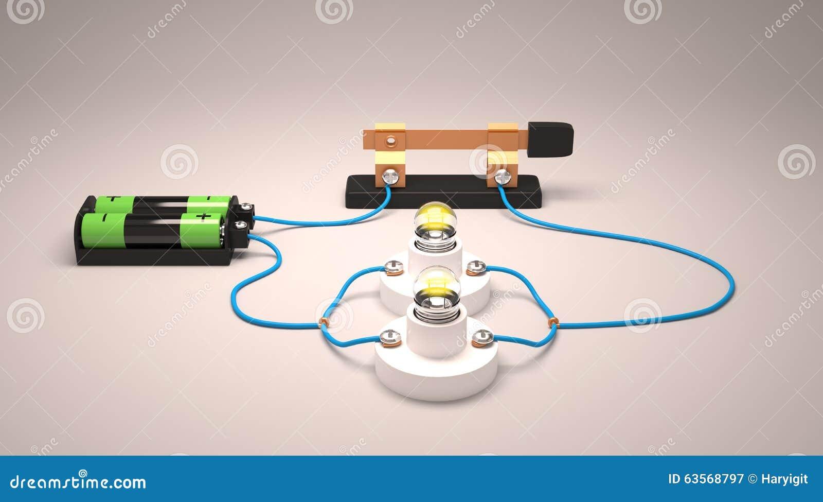 Circuito Z : Circuito elettrico semplice parallelo illustrazione di