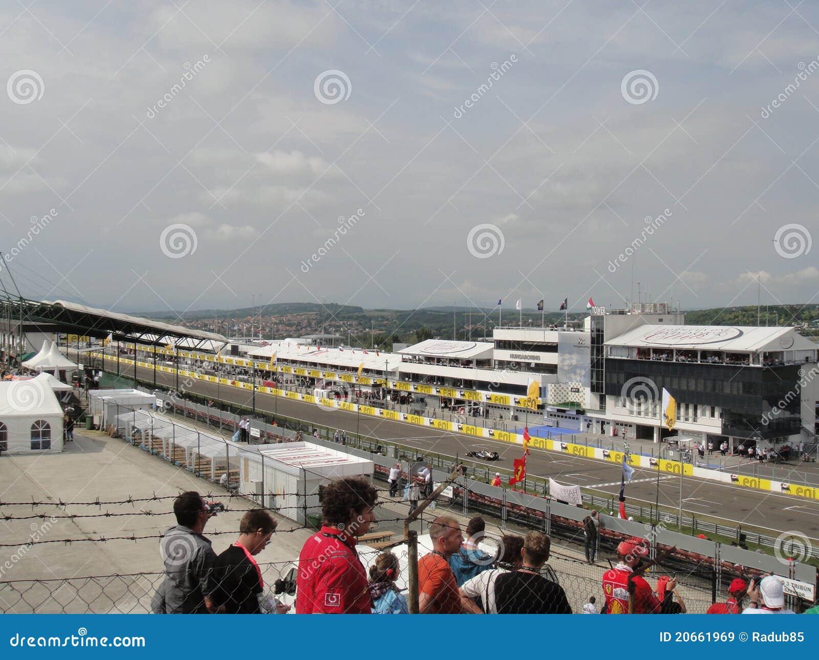 Circuito Ungheria : Circuito f1 immagine stock editoriale. immagine di circuito 20661969