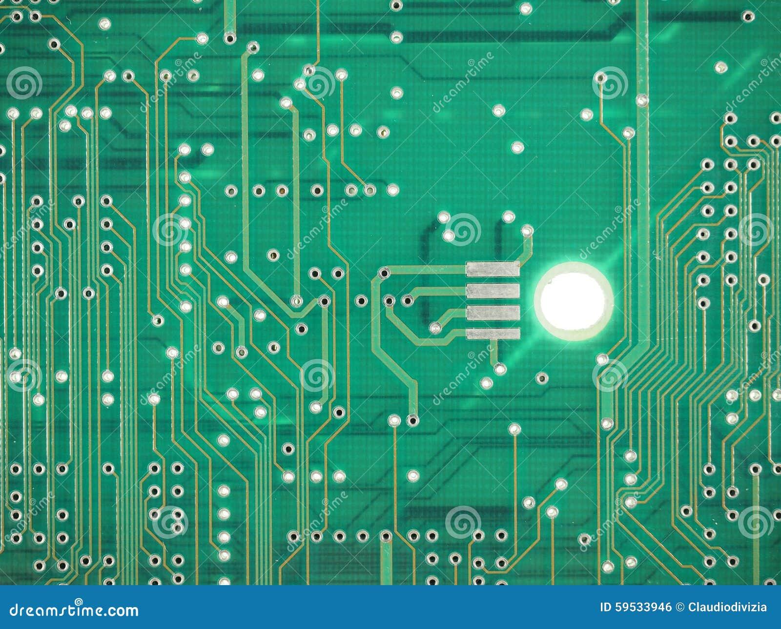 Circuito Impreso : Circuito impreso foto de archivo imagen de ensamblaje