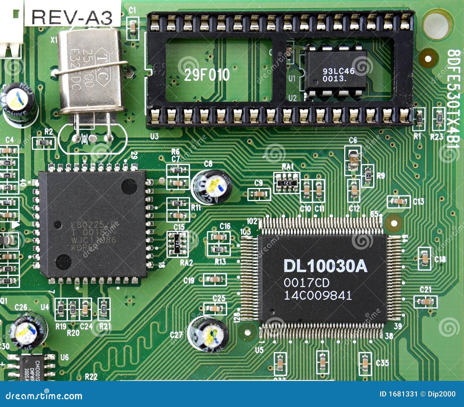 Circuito Z : Circuito integrado imagem de stock
