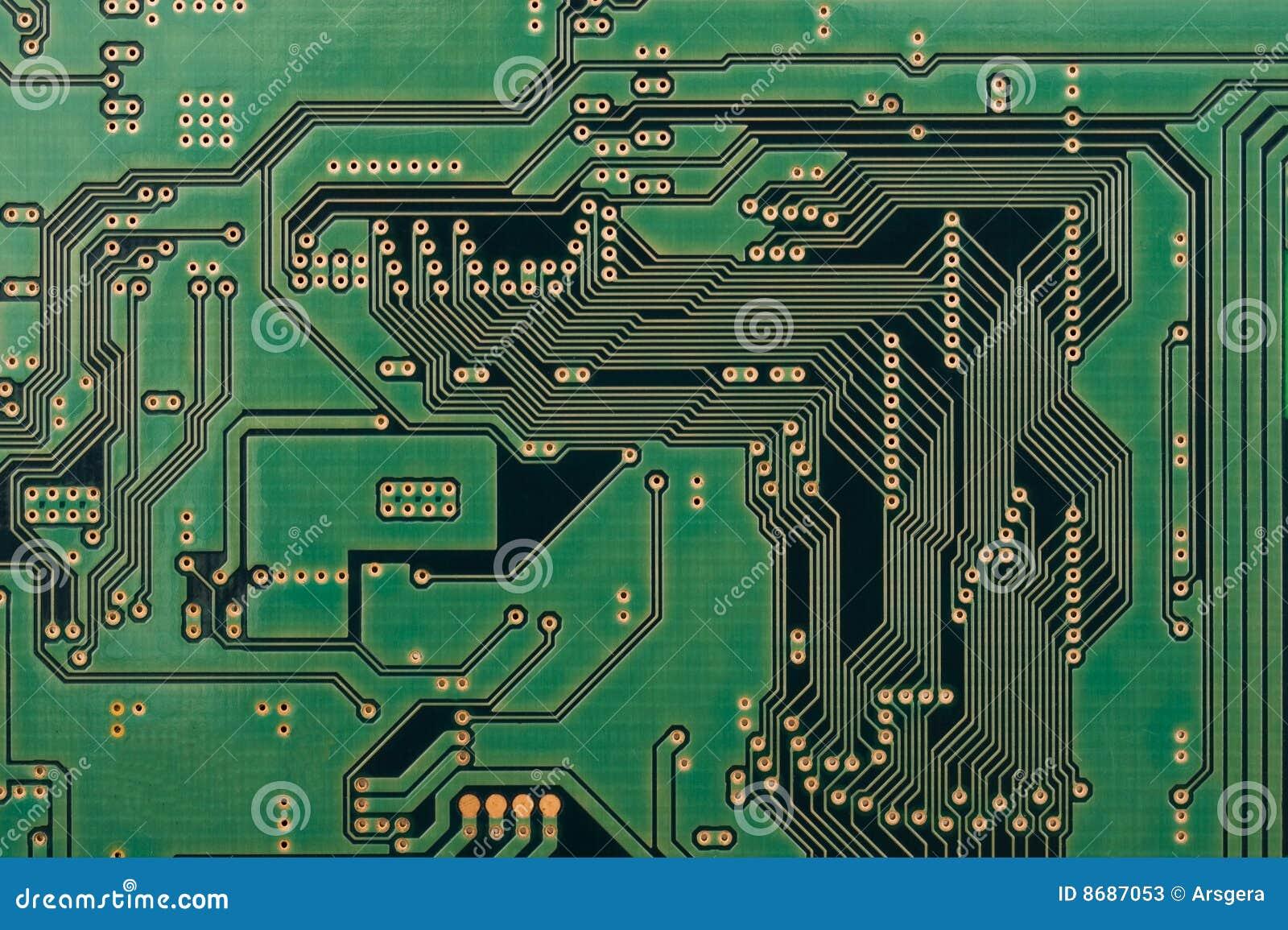 Circuito Z : Circuito integrado imagem de stock placa