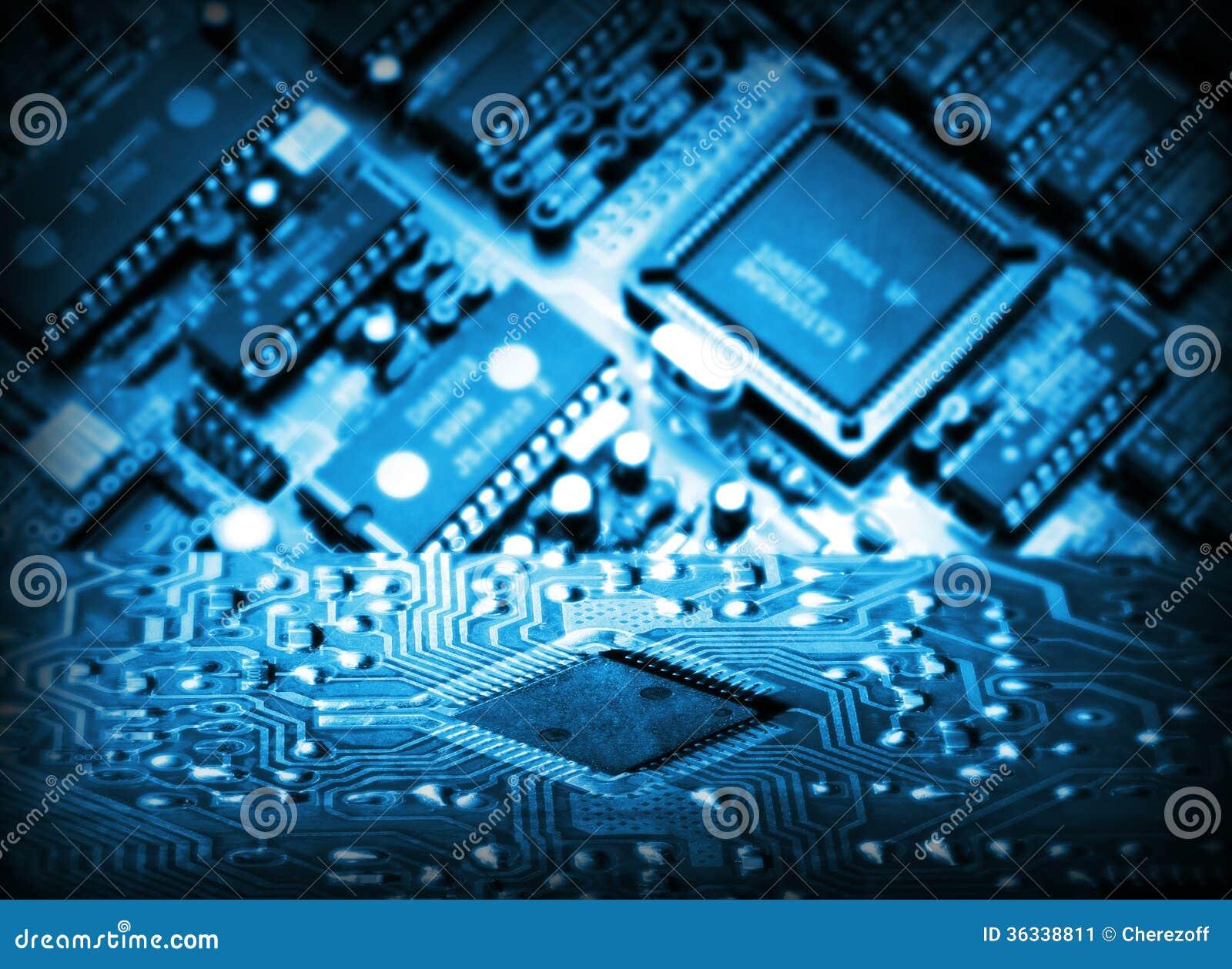 Circuito Integrado La78041 : Circuito integrado futurista imagen de archivo