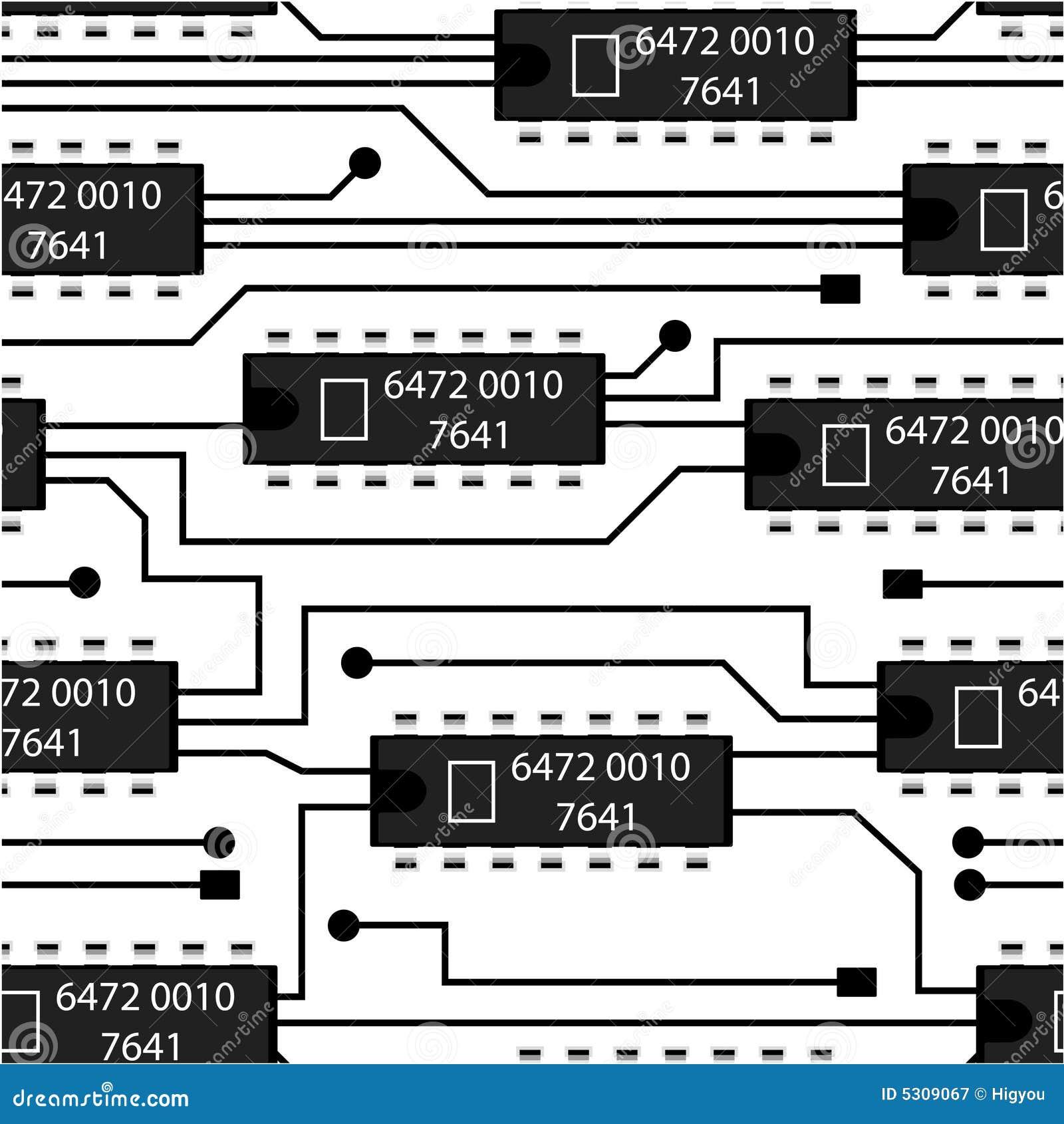 Download Circuito senza giunte illustrazione vettoriale. Illustrazione di infinito - 5309067