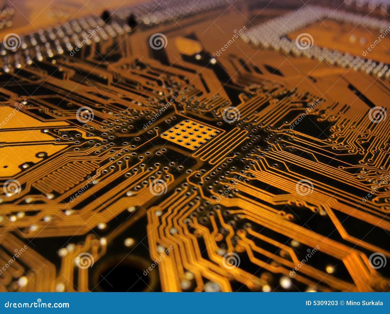 Download Circuito stampato immagine stock. Immagine di volt, transistore - 5309203