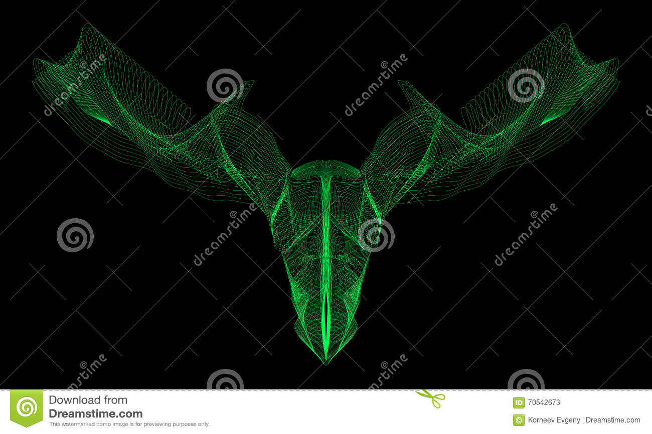 Circuito Virtual : Circuito virtual de los alces animales abstractos vector eps