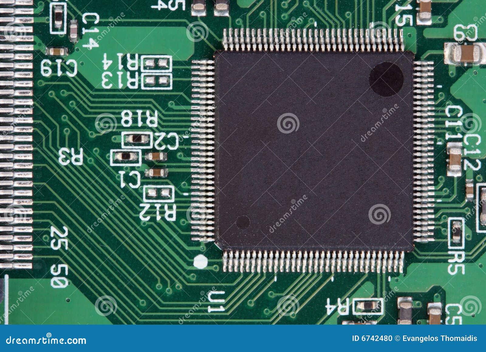 Circuito Y : Circuito y procesador foto de archivo imagen de nadie