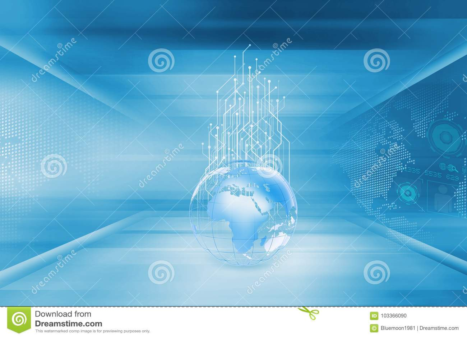 Circuitos de aumentação das séries do conceito do globo da terra