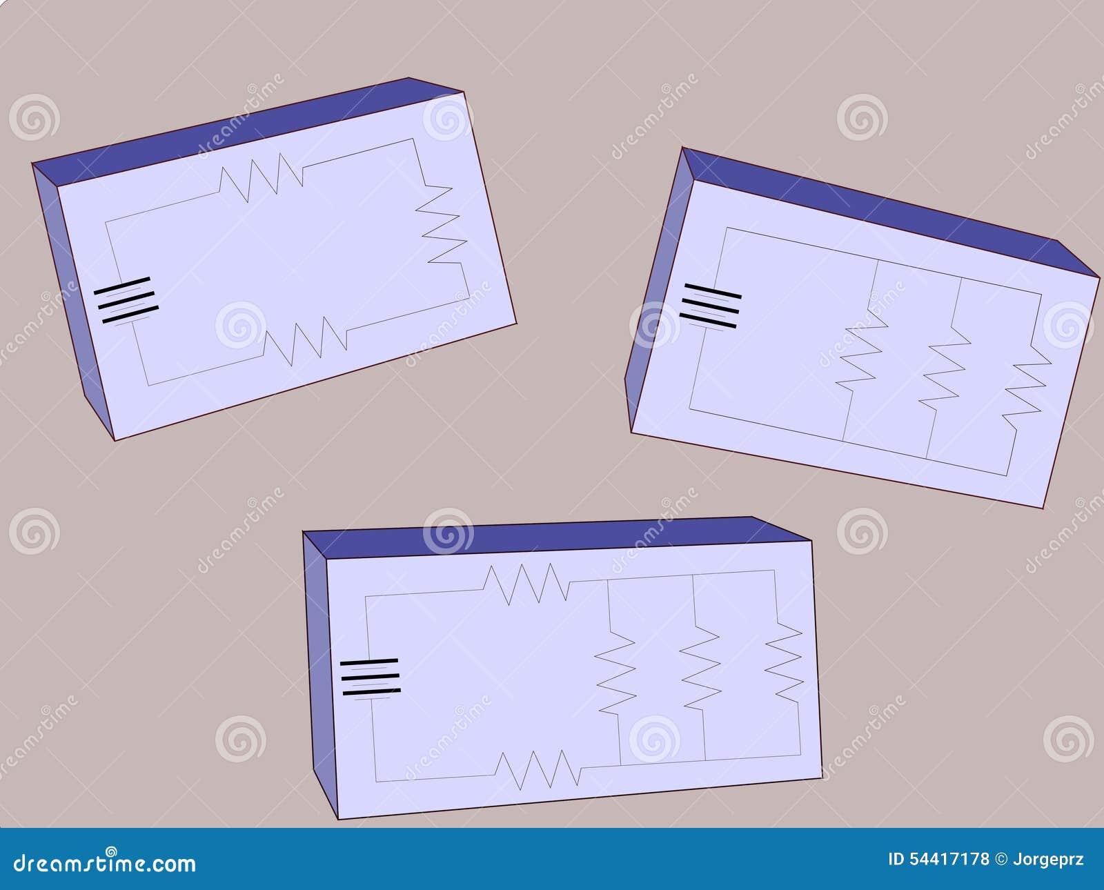 Circuito En Paralelo Ejemplos : Circuitos resistentes ilustración del vector. ilustración de each