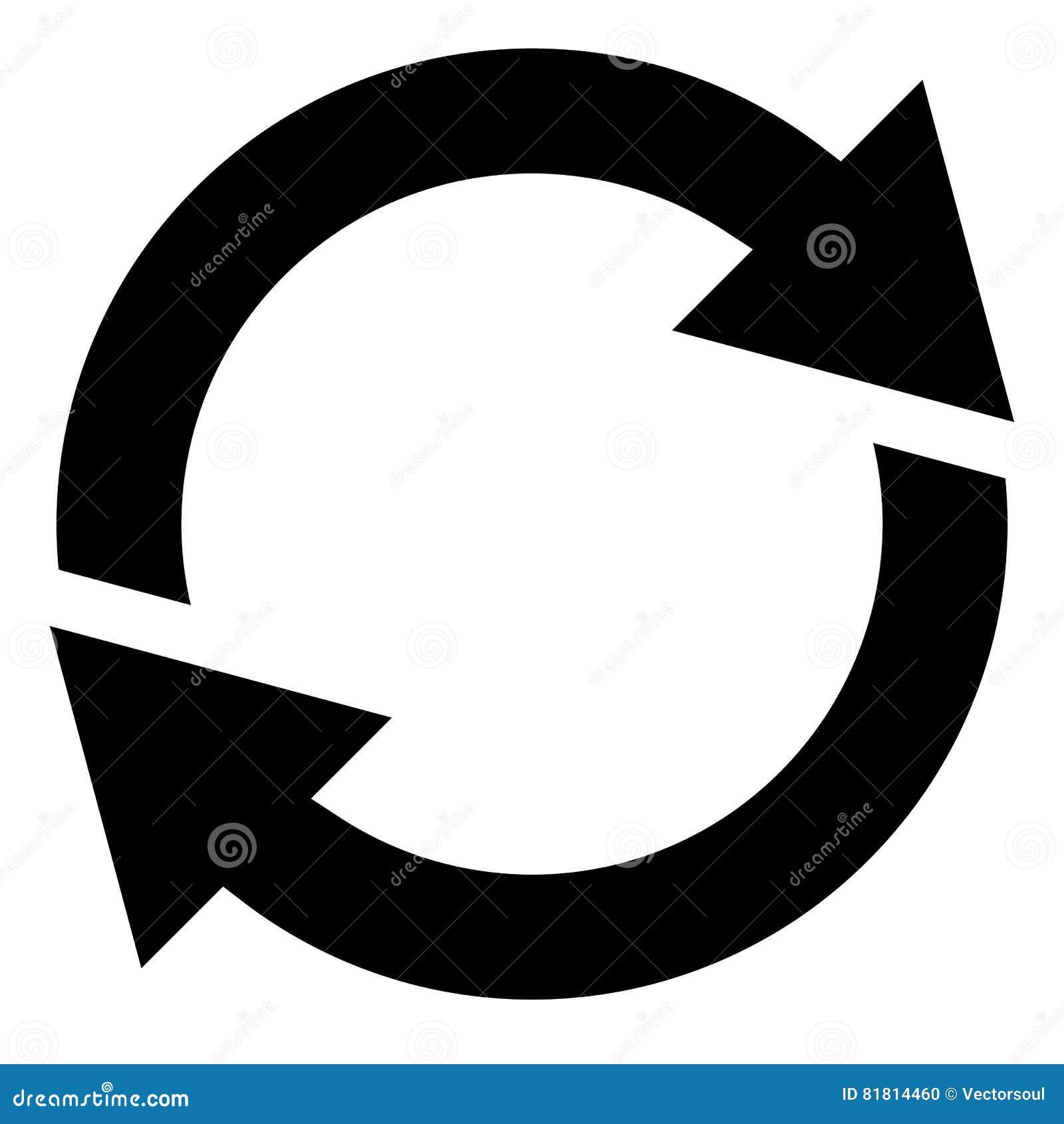Circular Arrow, Circle Arrow Icon  Rotation, Restart, Twist