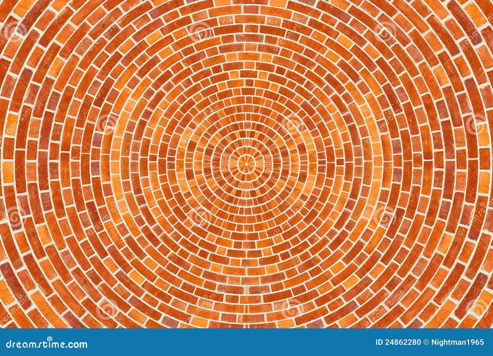 Circular Brick Pattern Stock Photo Image 24862280