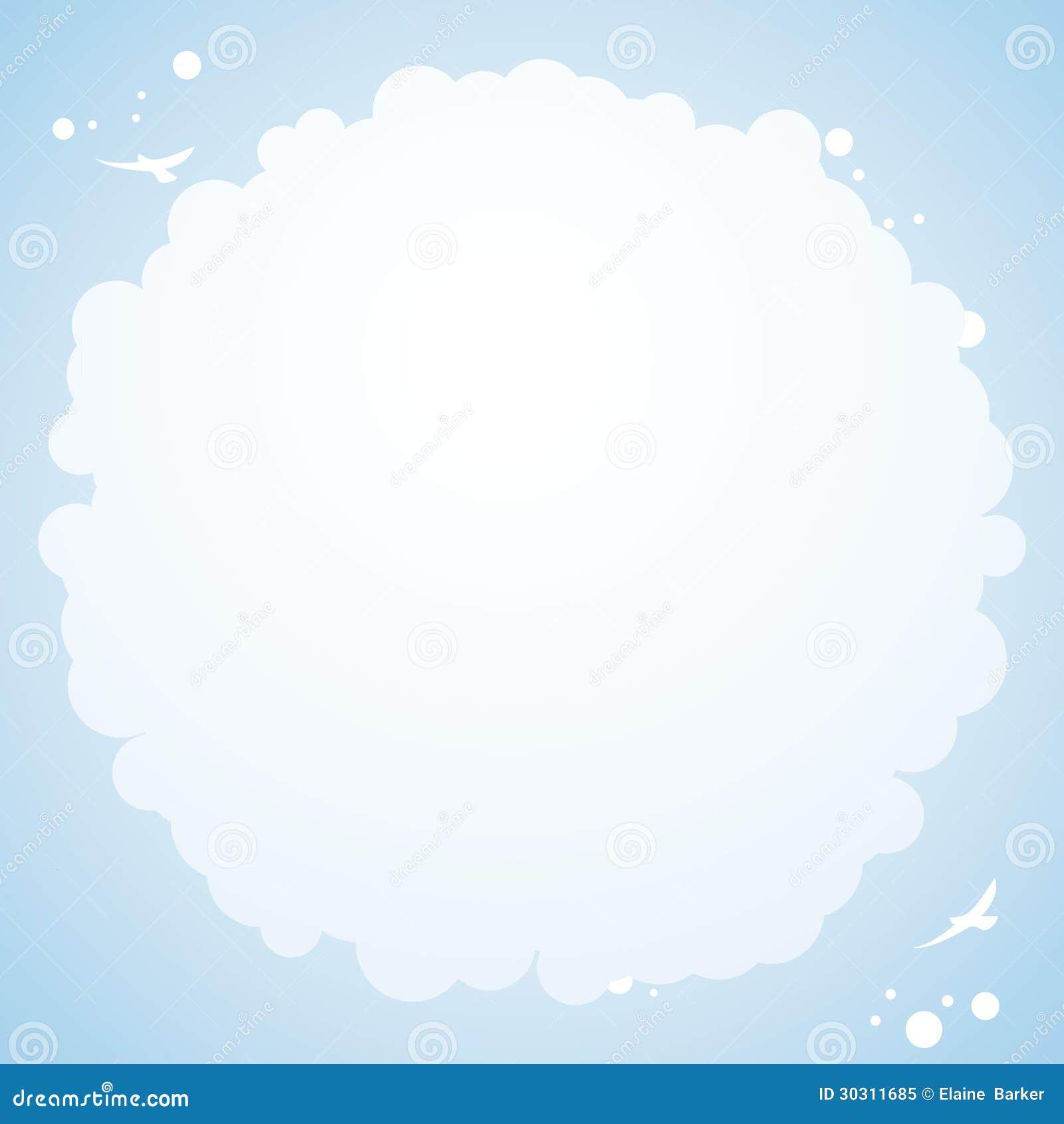 Cloud Cirular Borderborder Background Royalty Free Stock Photo Image 30311685
