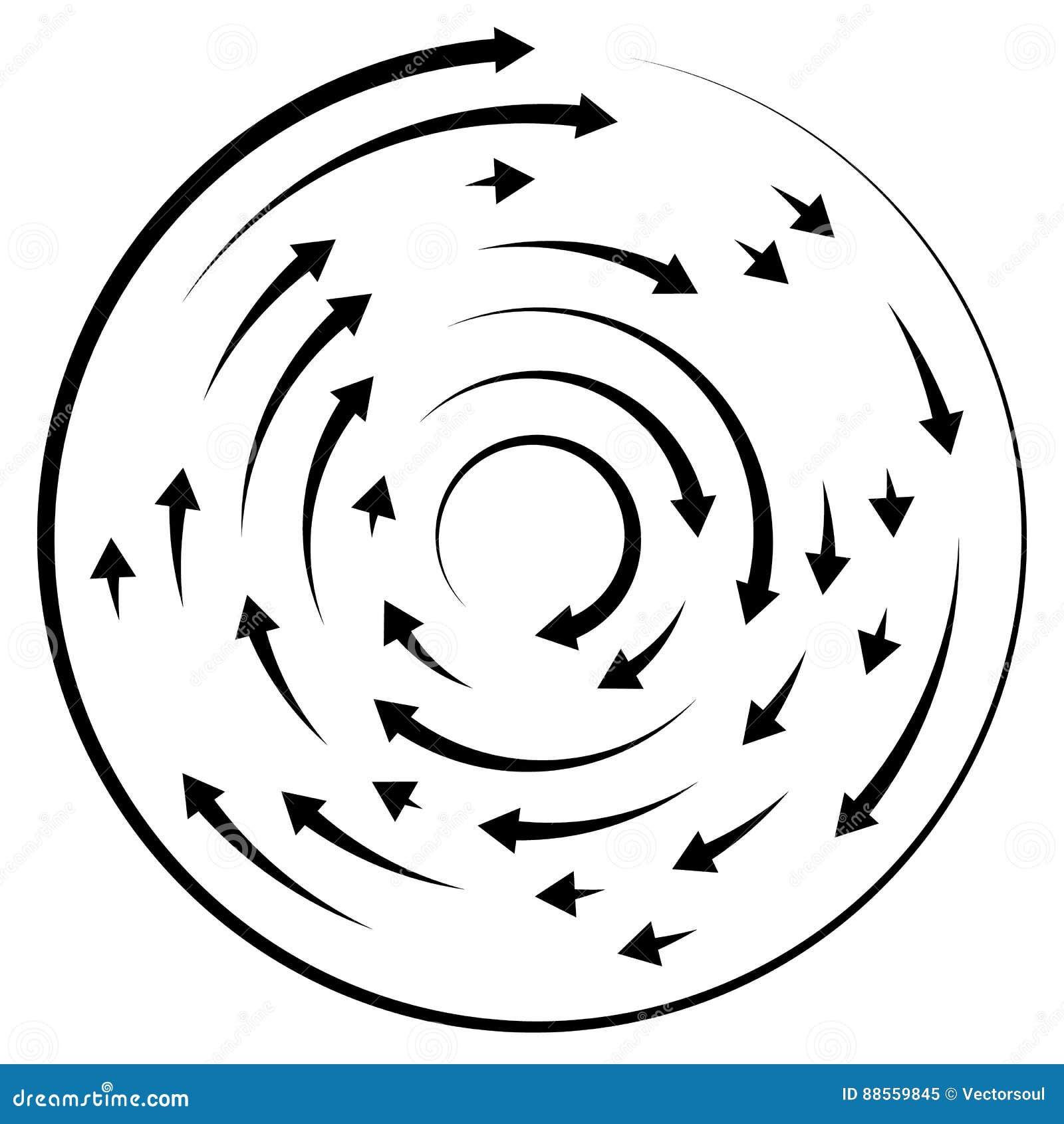 Circular Concentric Arrows  Cyclic, Cycle Arrows  Arrow