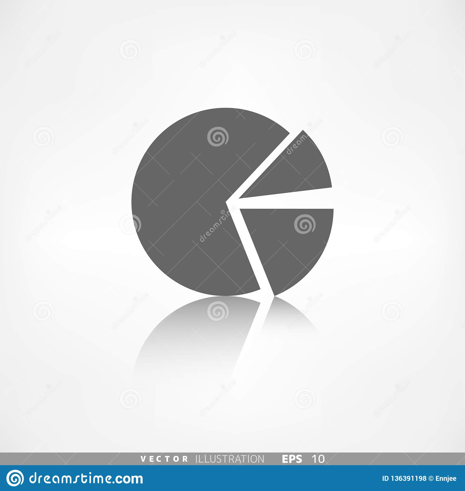 Circular Diagram Web Icon Vector Illustration  Stock Vector