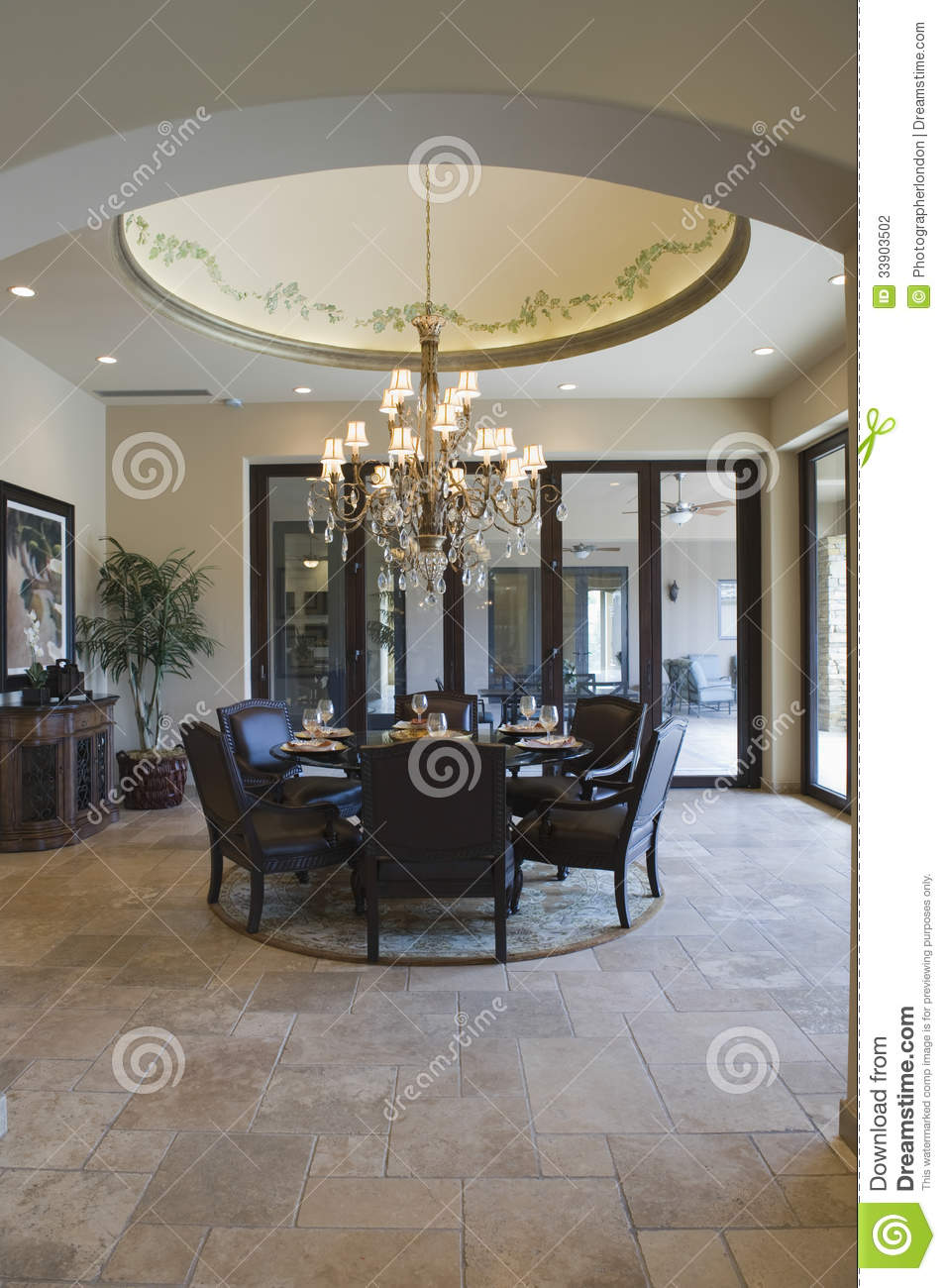 Circular Dining Table Stock Photo Image Of Architecture 33903502
