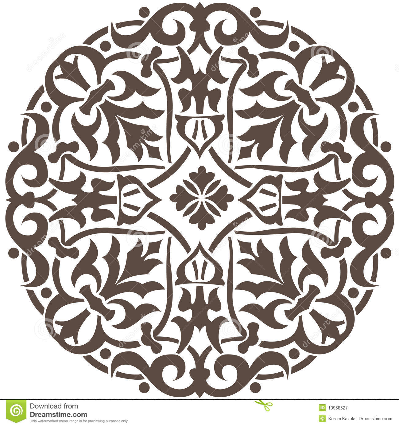 Circular Floral Design stock vector. Illustration of ...