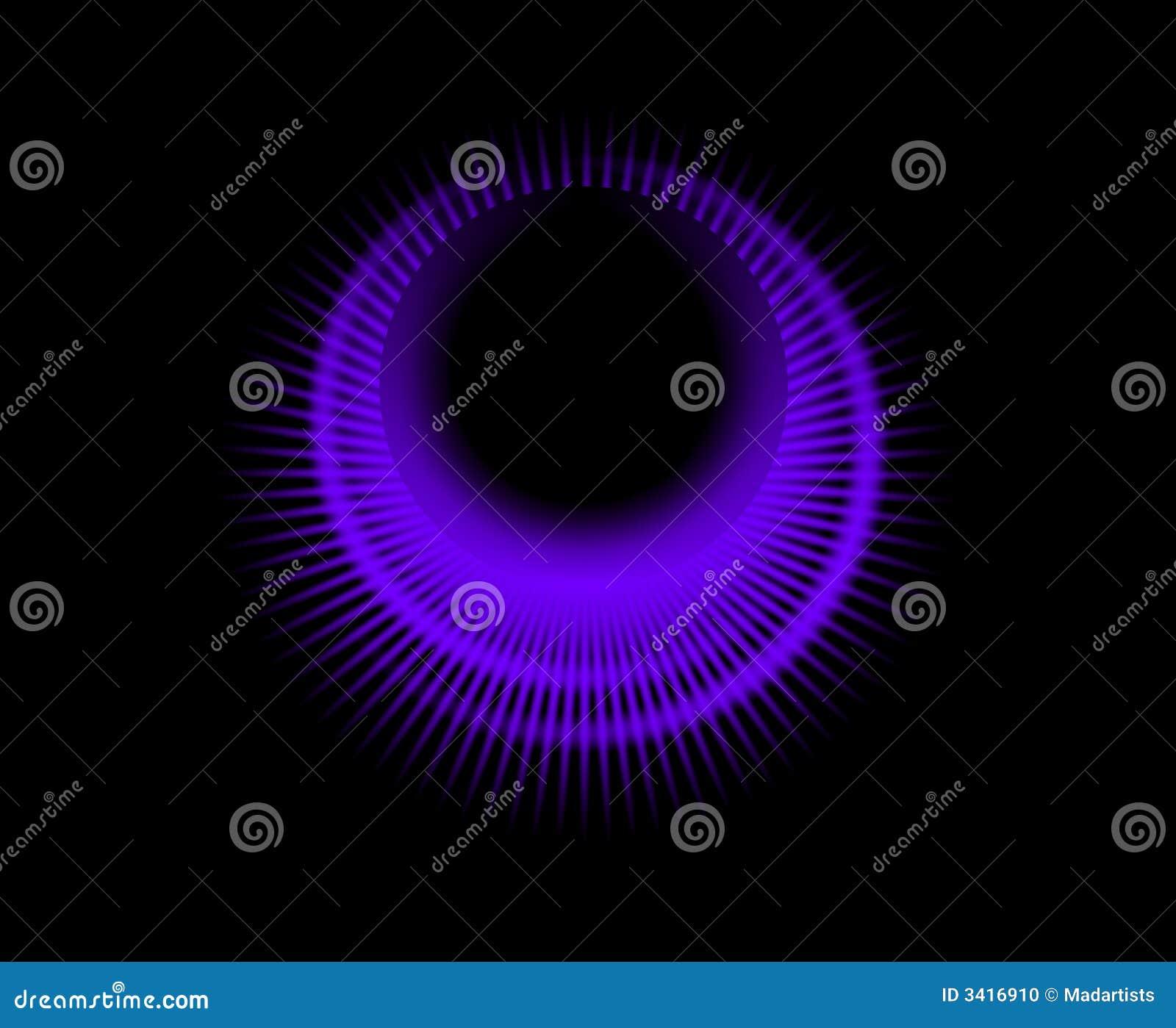 Circular Glowing Logo Black 4