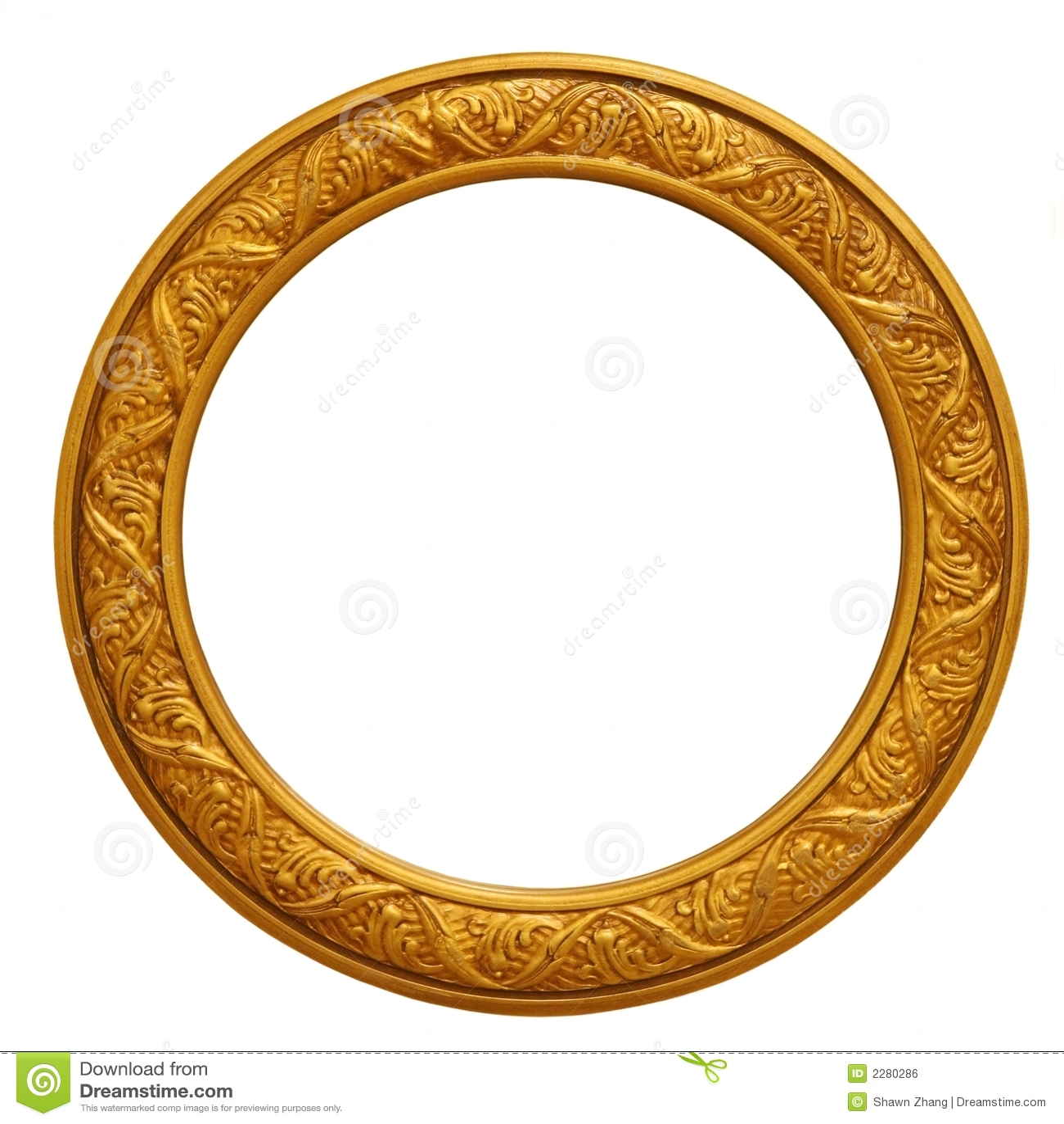 Circular Golden Picture Frame