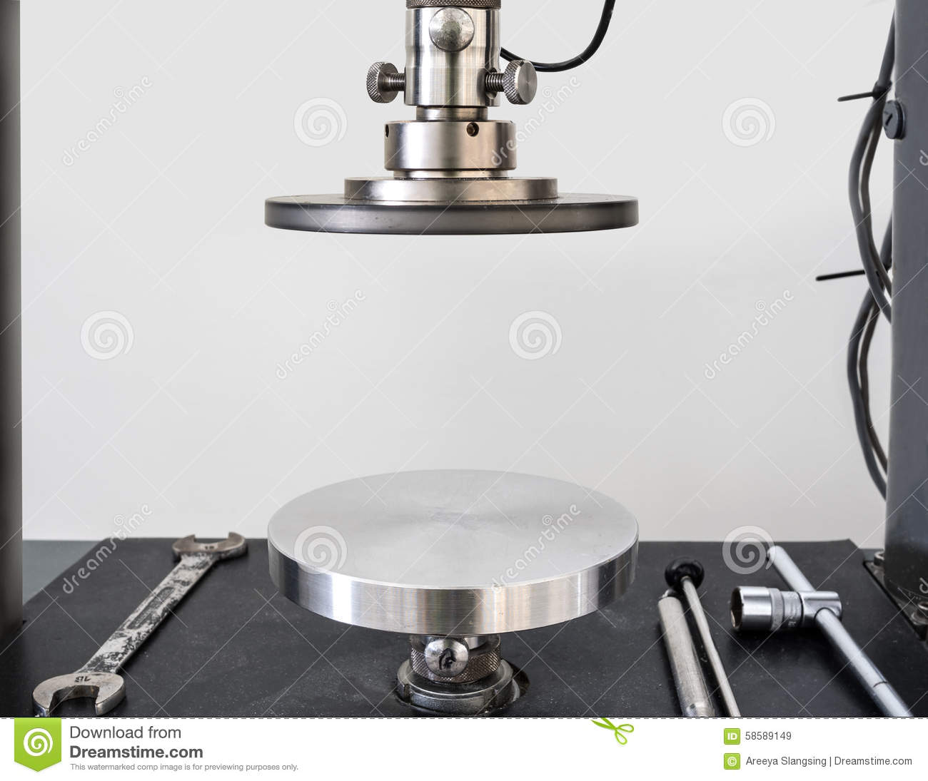Circular Plate Can Press Sample To Calculate Physical