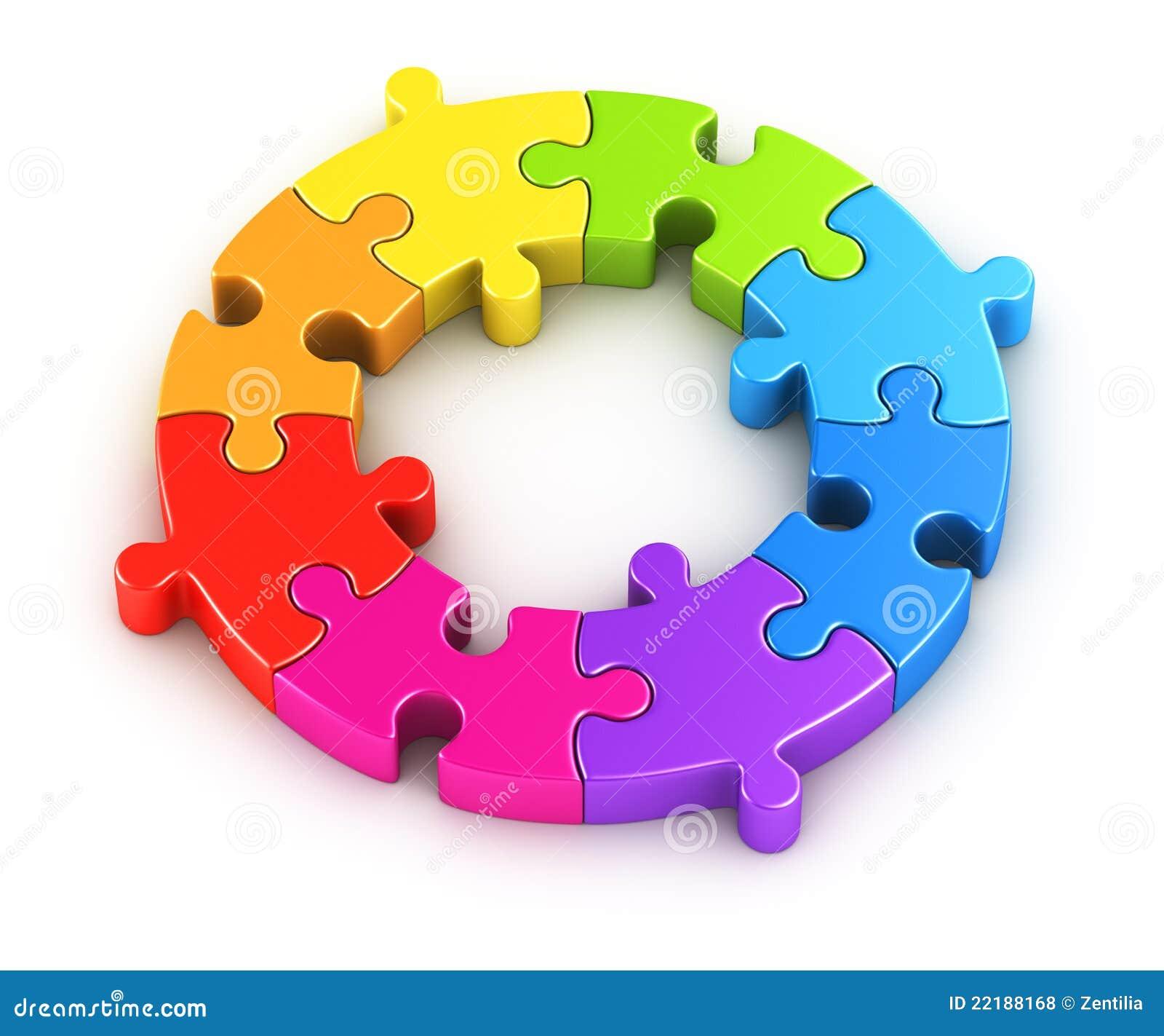 Circular Puzzle Royalty Free Stock Photos Image 22188168