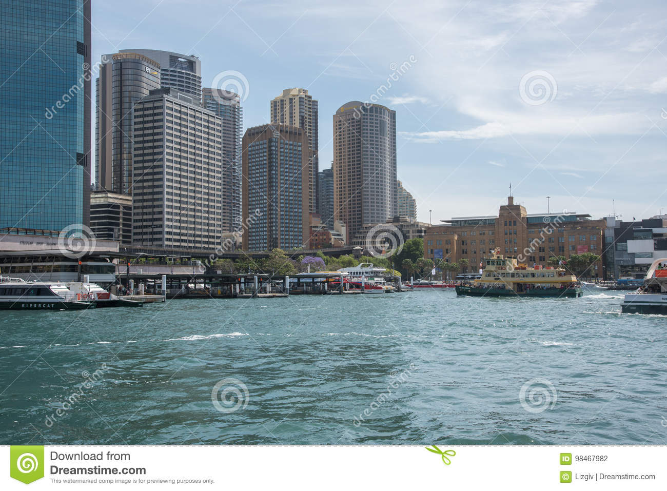 Circular Quay And Sydney Skyline Editorial Photography - Image of