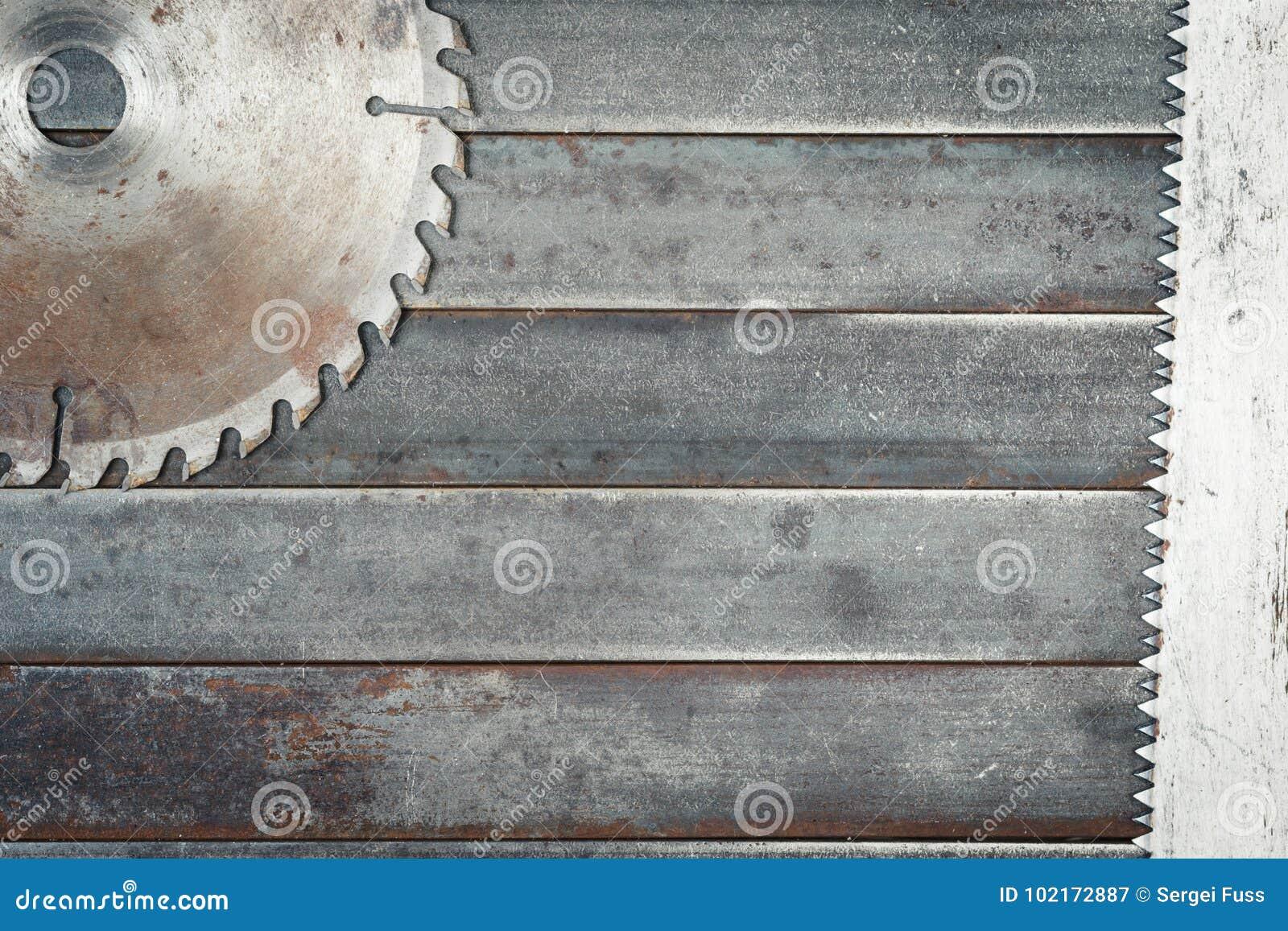 Circular saw blades, large teeth details steel blade, metal whee