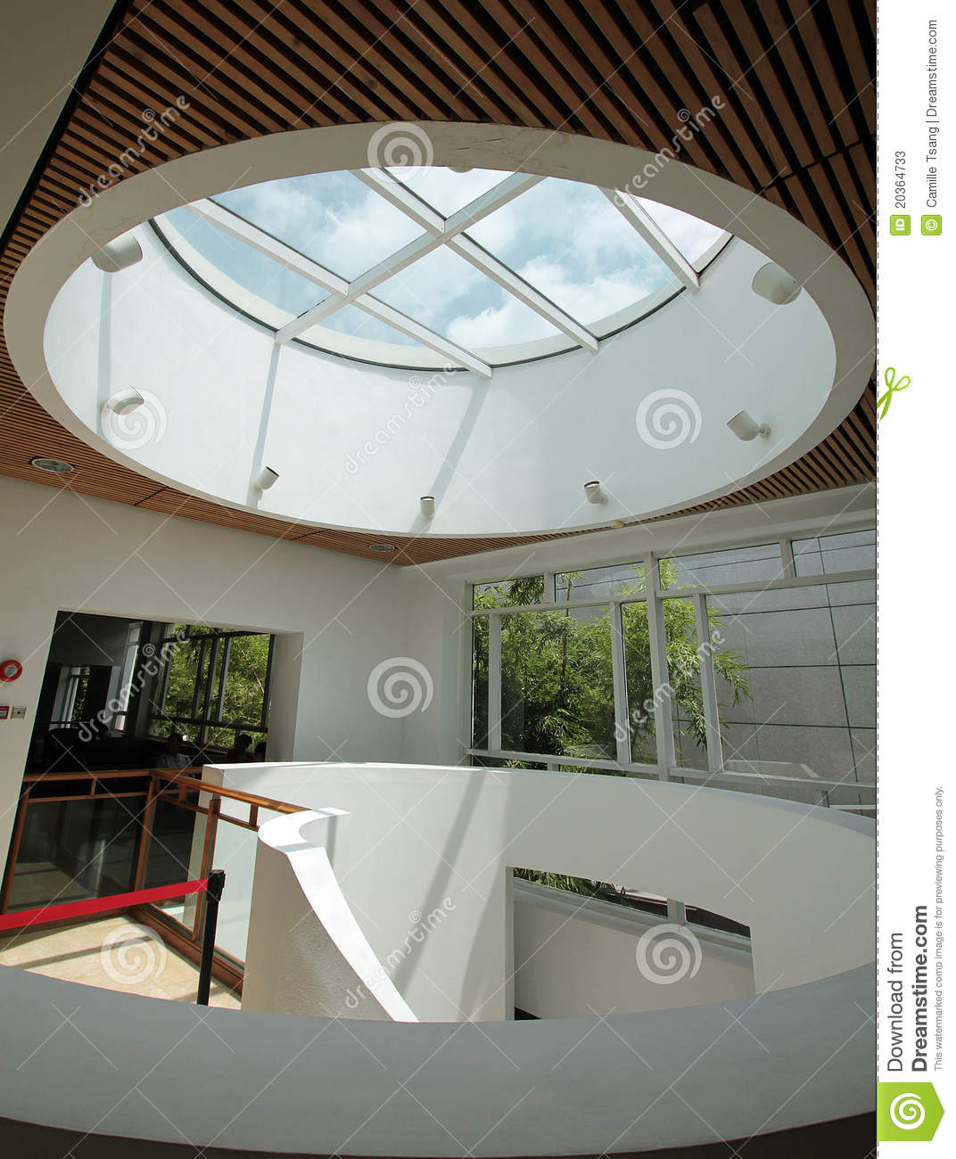 Circular Skylight Stock Image Image Of Light Ceiling