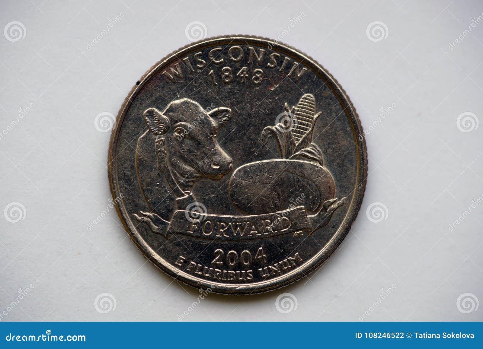 1/4 Dollar `Washington Quarter` Wisconsin