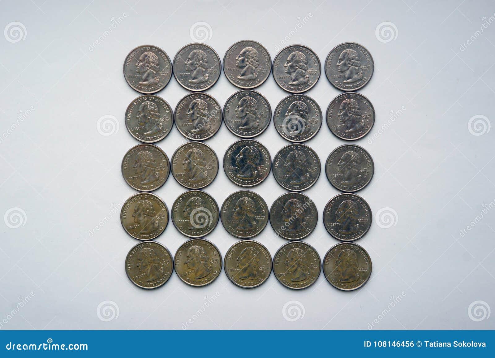 Square of `Washington Quarter` - quarter dollar.
