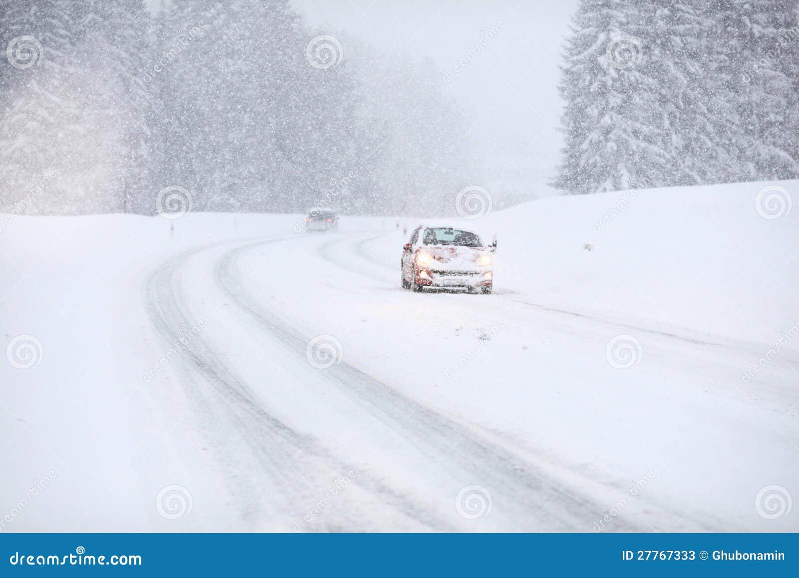 Circulation de neige de véhicule